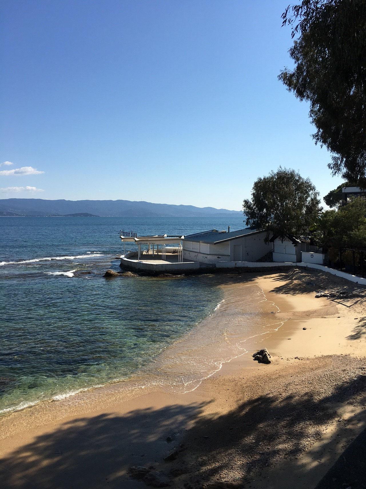 Vue de la plage proche de la maison de Ninette