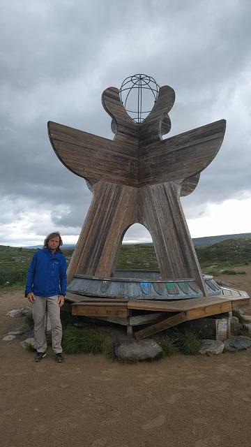 Polarkreis in Norwegen an der E6