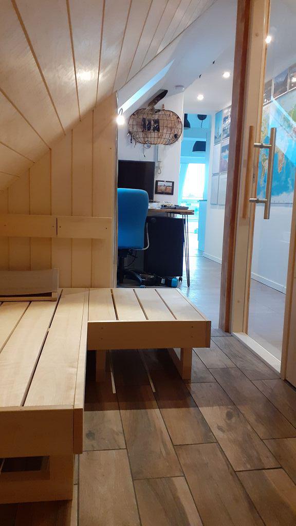 Blick aus der Sauna...