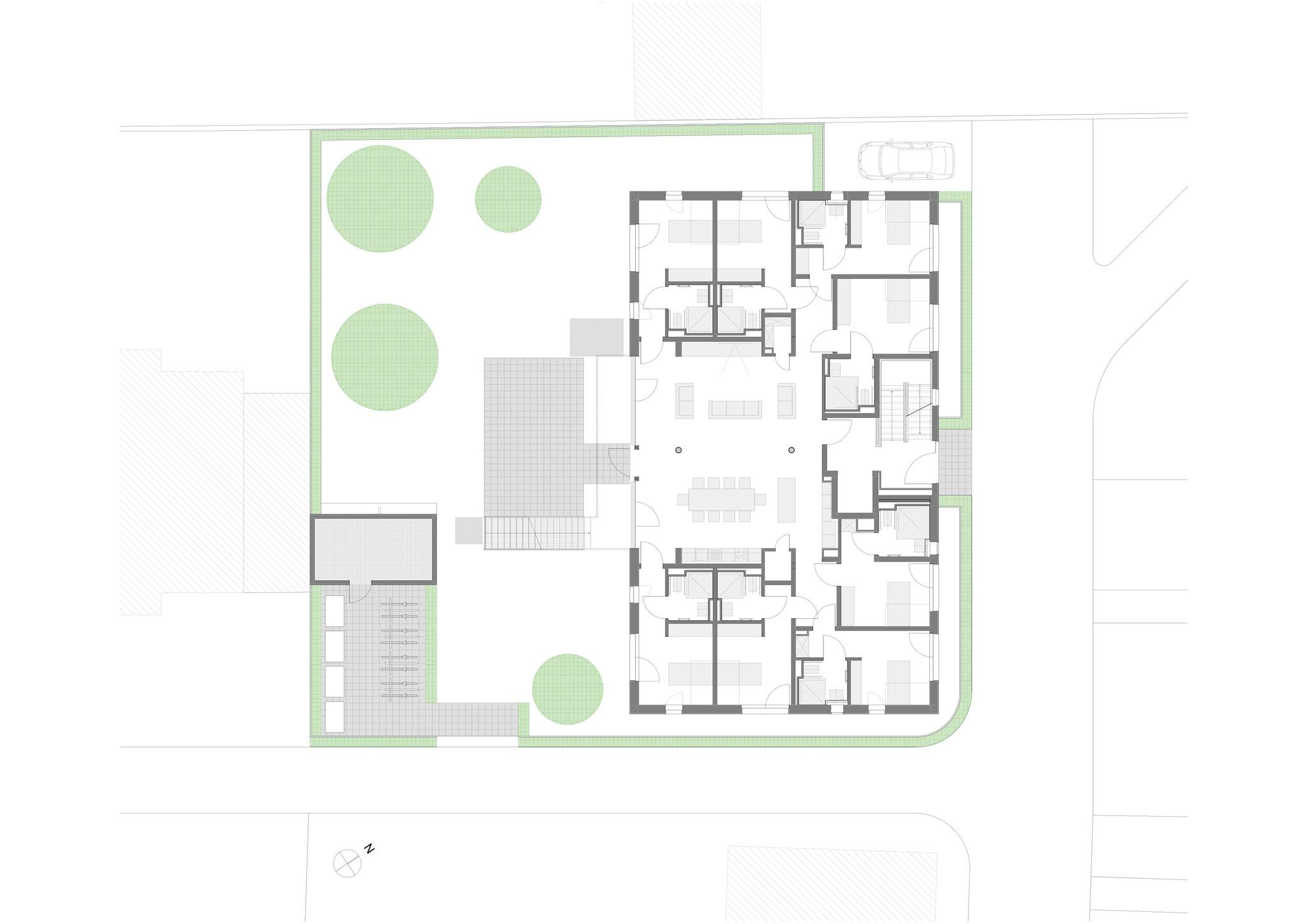 Erdgeschoss und Lageplan