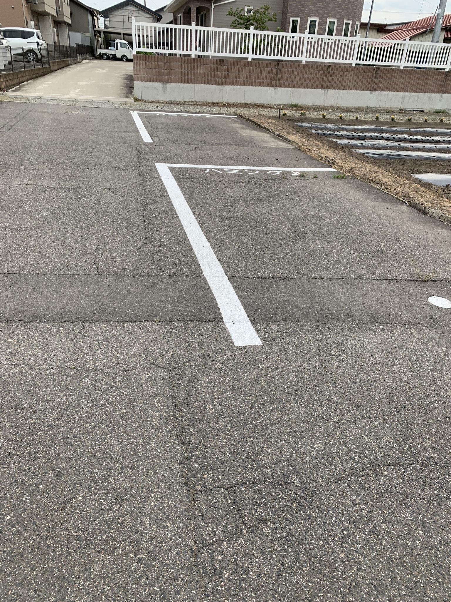 駐車場2台あるので         前後の生徒さんがいても大丈夫