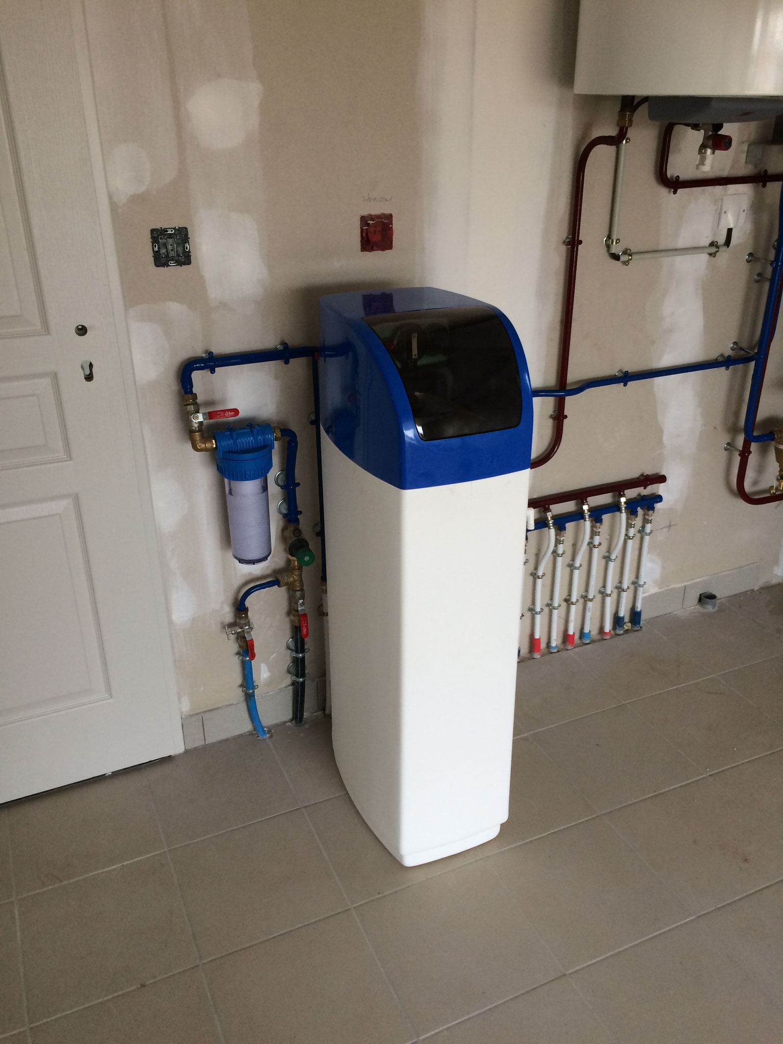 Installation d'un adoucisseur d'eau