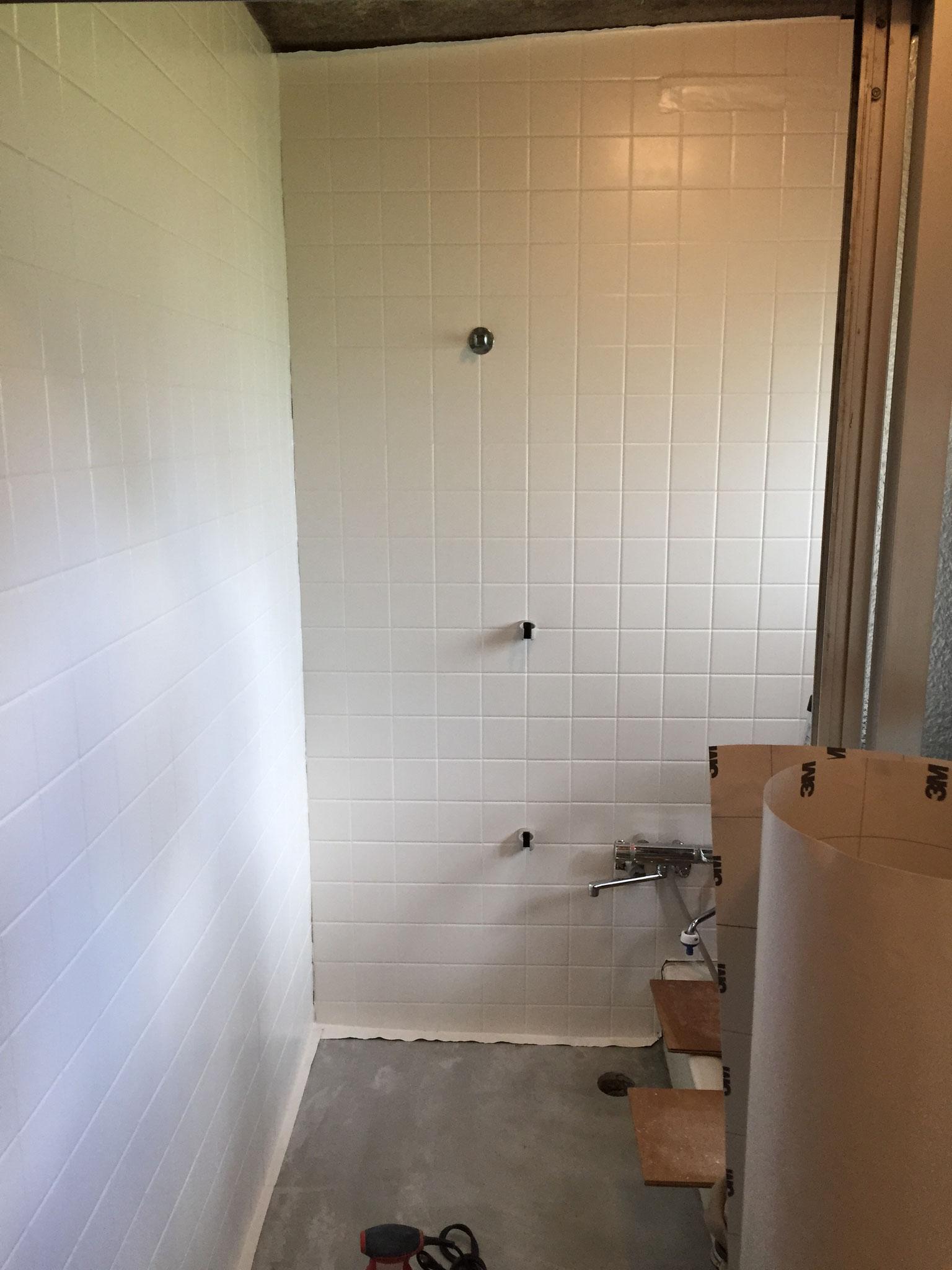 在来タイル浴室 壁 3M ネオフィルム