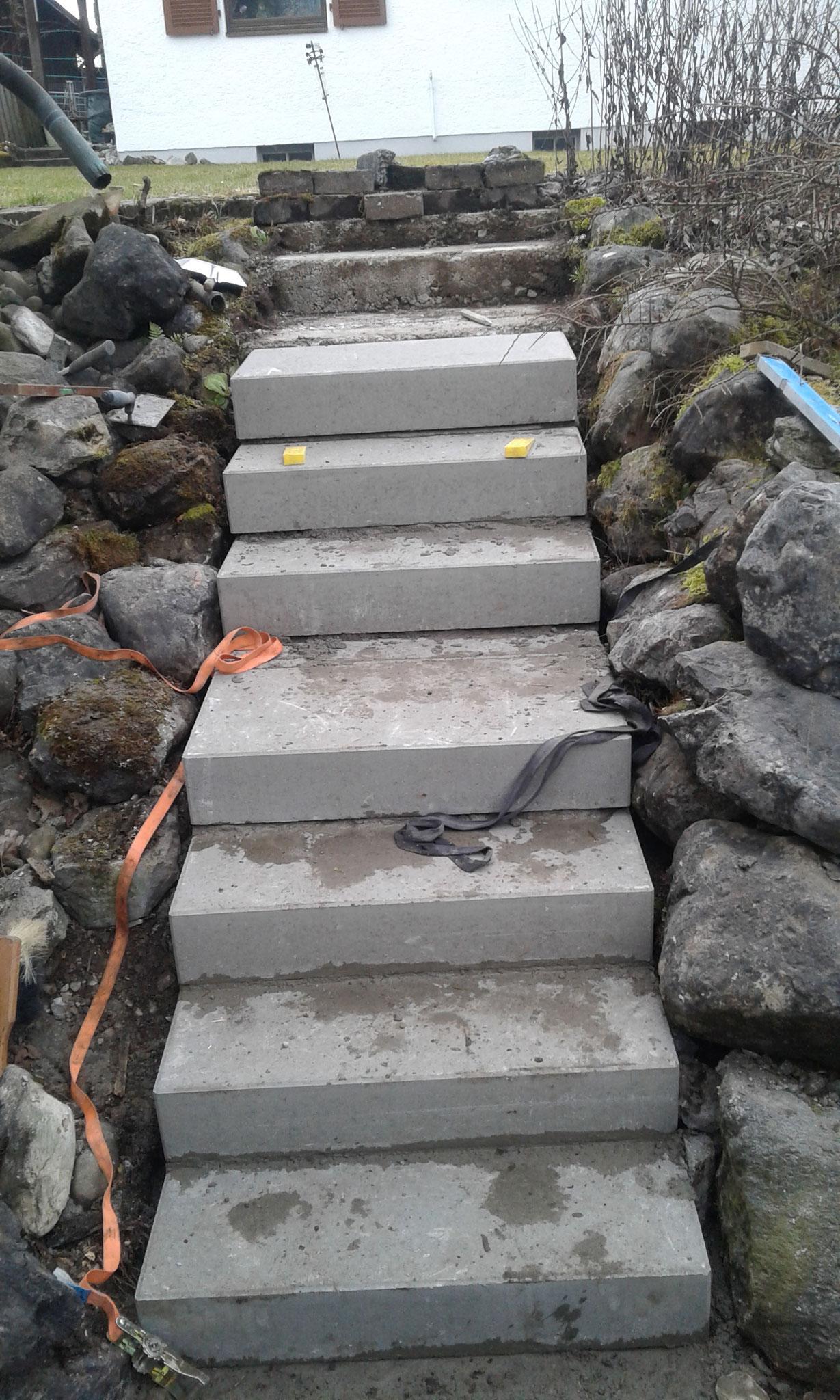 Treppenerneuerung in Wangen - Bauphase