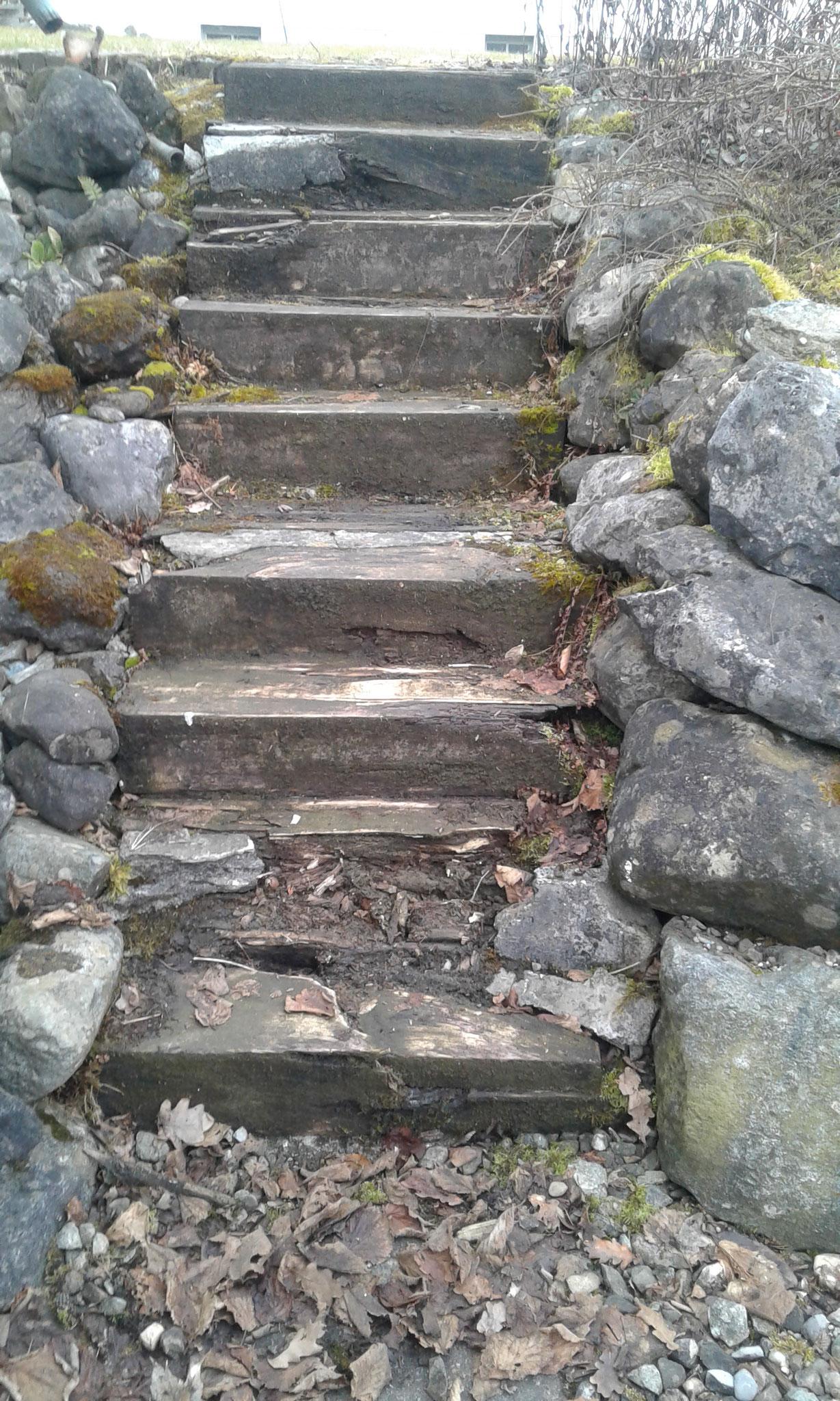 Treppenerneuerung in Wangen - VORHER