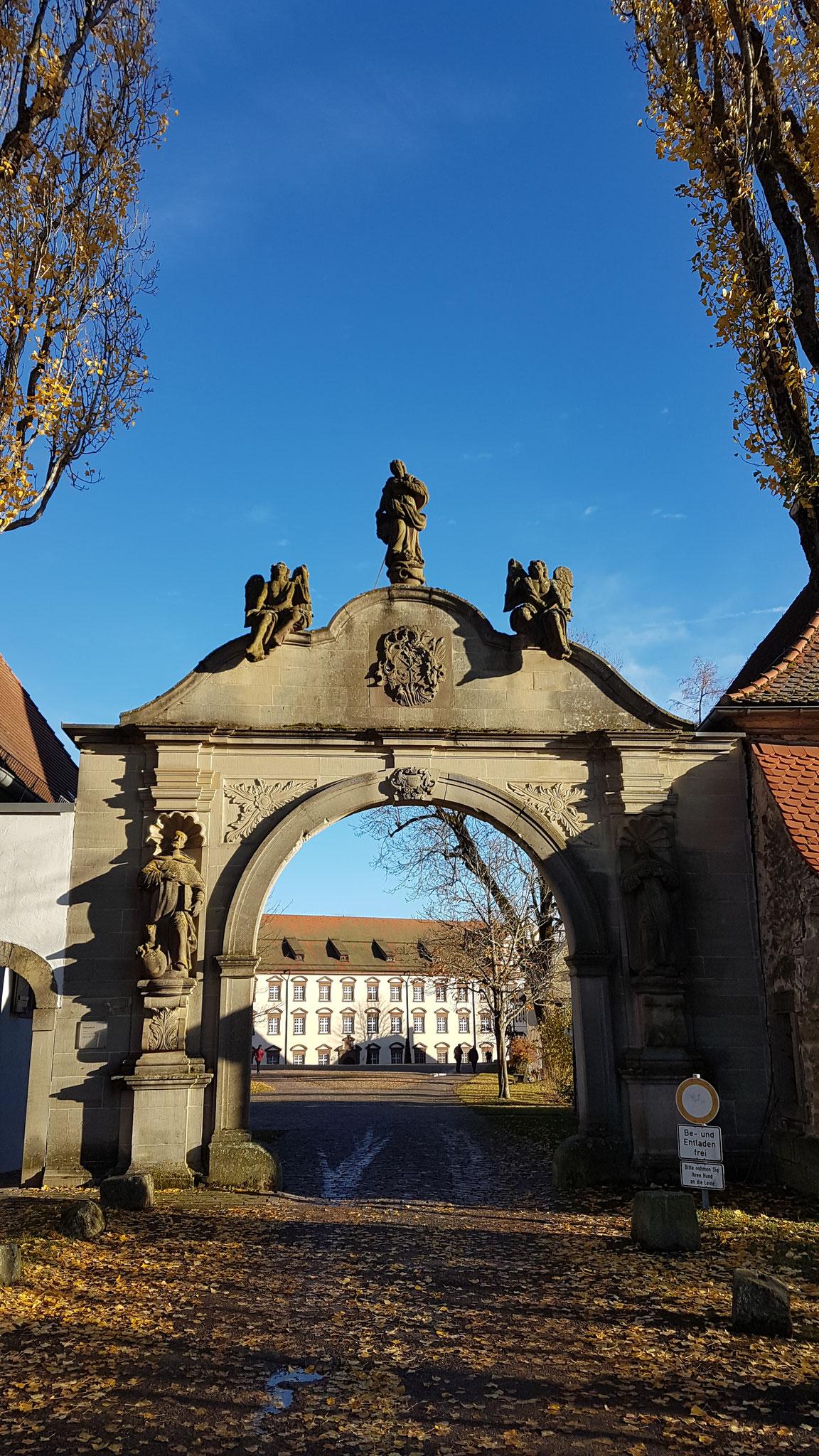 Eingang zum Kloster Kirchberg Haigerloch