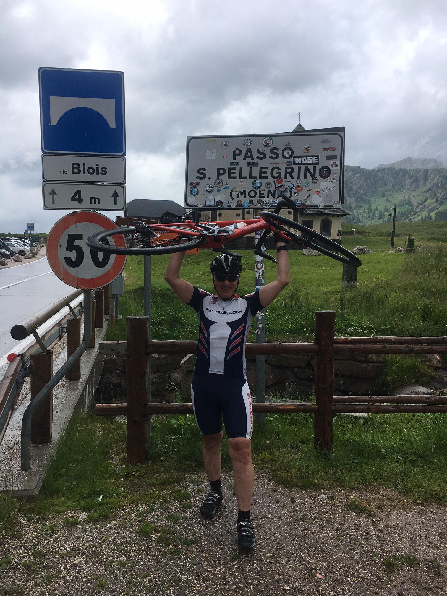 August 2021 - Georg auf dem Passo Pelligrino