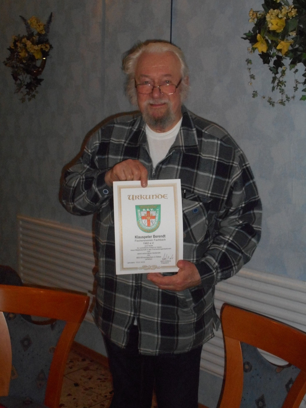 Auszeichnung für Klauspeter Behrendt