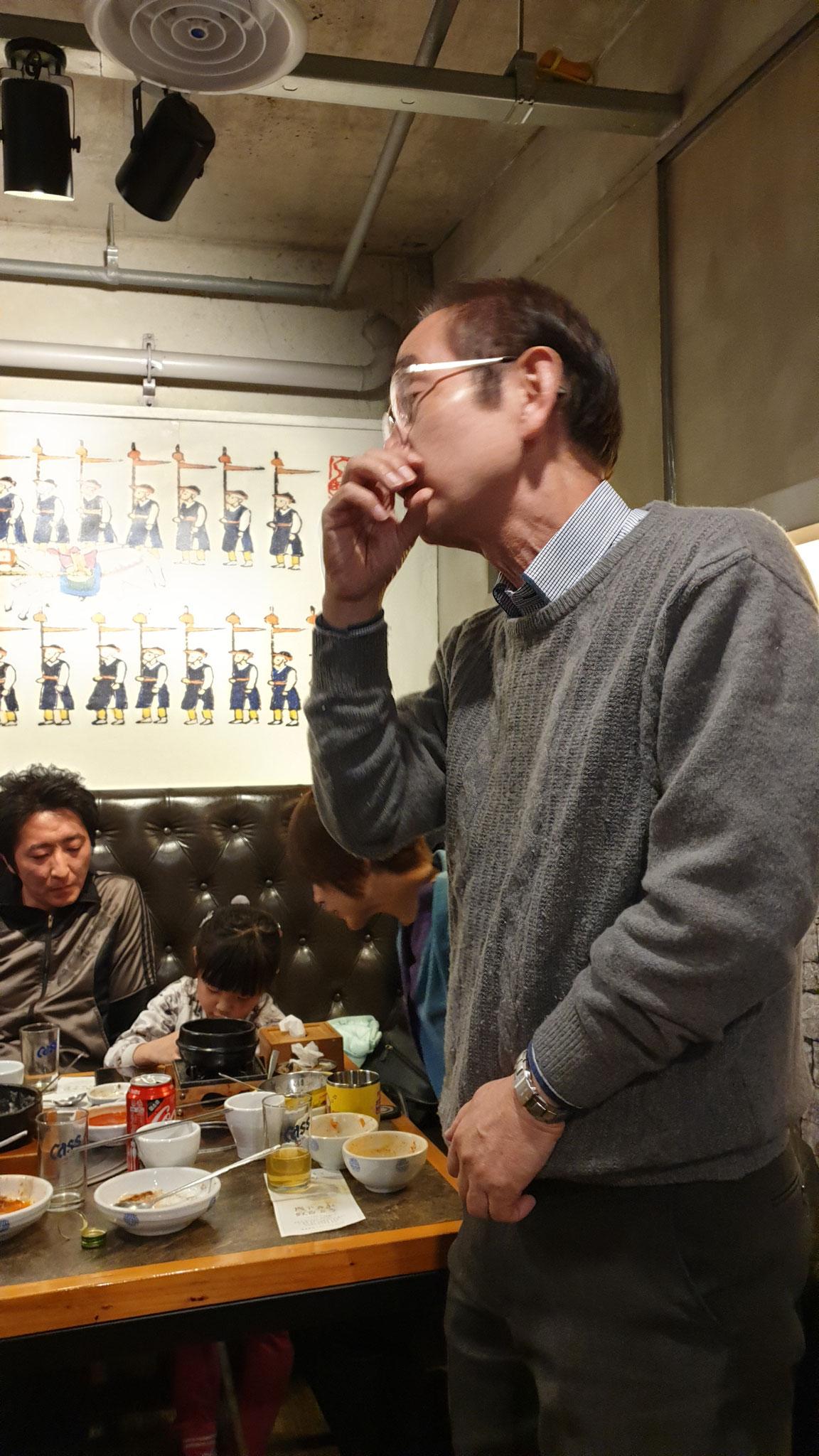 2019年3月歓送会@장사랑 (梨泰院駅近く): 村田先生