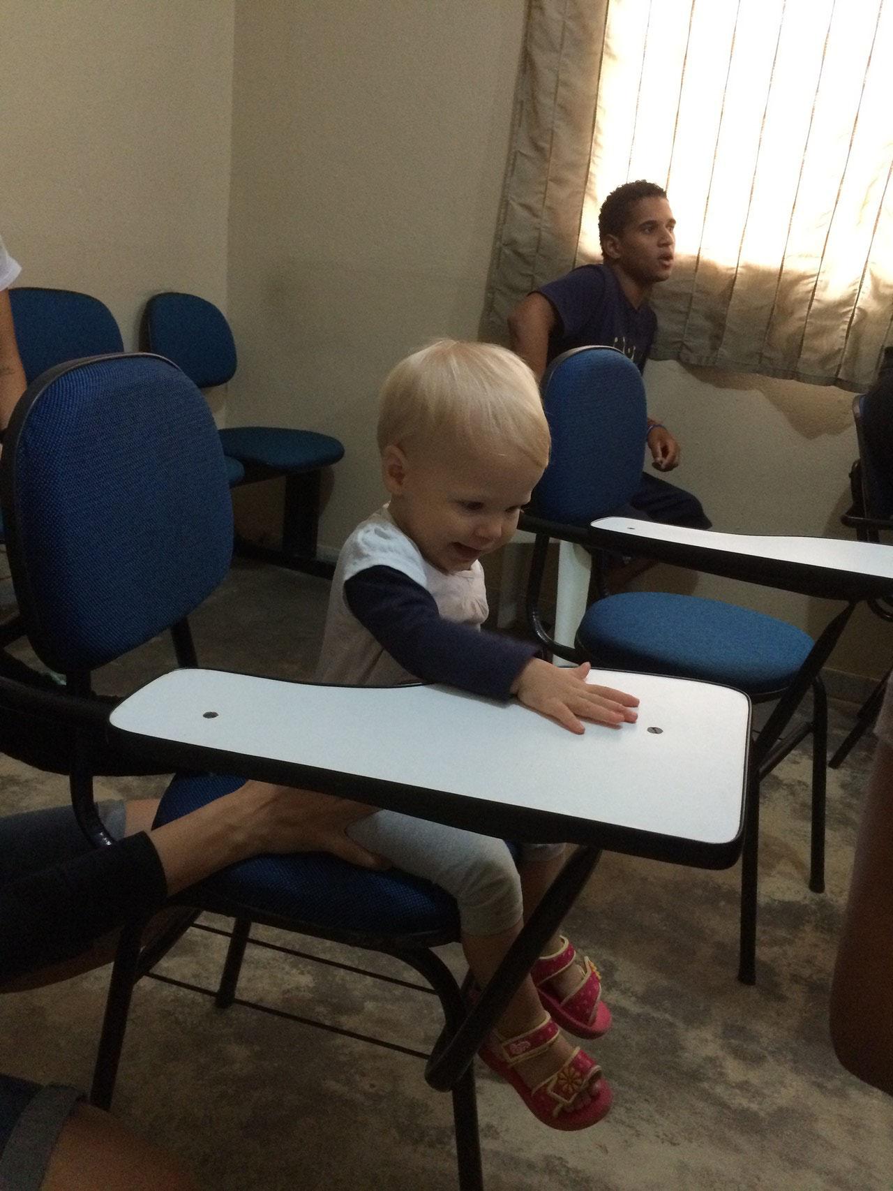Unsere neue Mitstudentin Simea... :-)