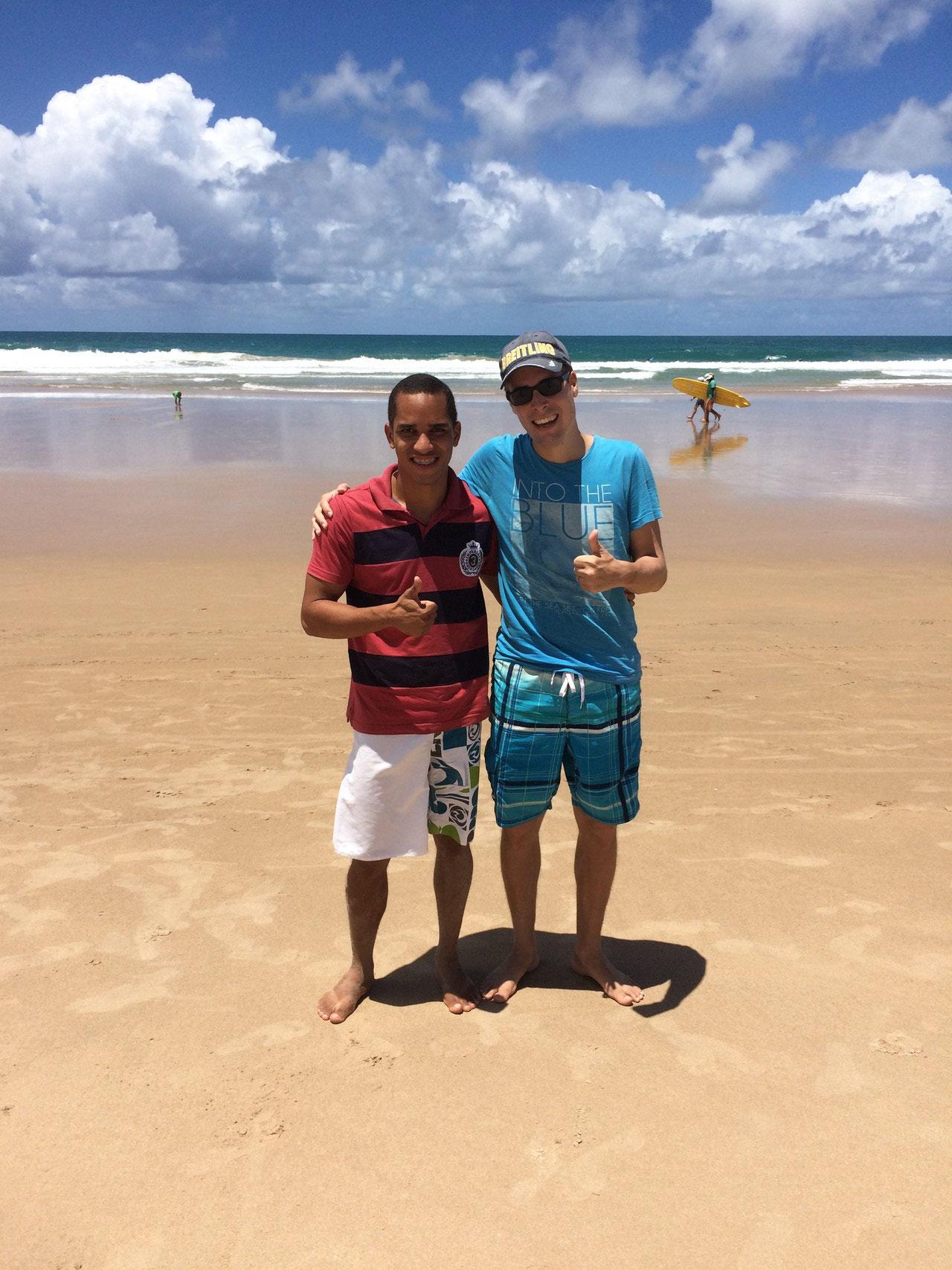 Ausflug ans Meer mit dem Studenten David aus Brasilien