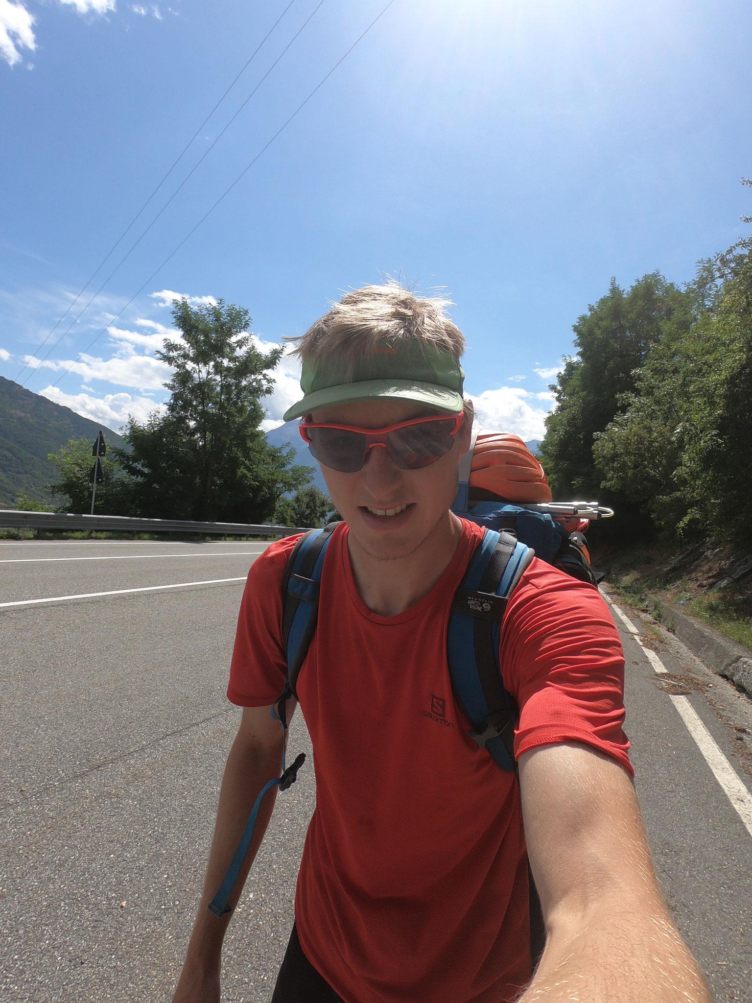 Aufstieg von Aosta ins Biv. Molline (ewige Strassenwanderei, ächz)