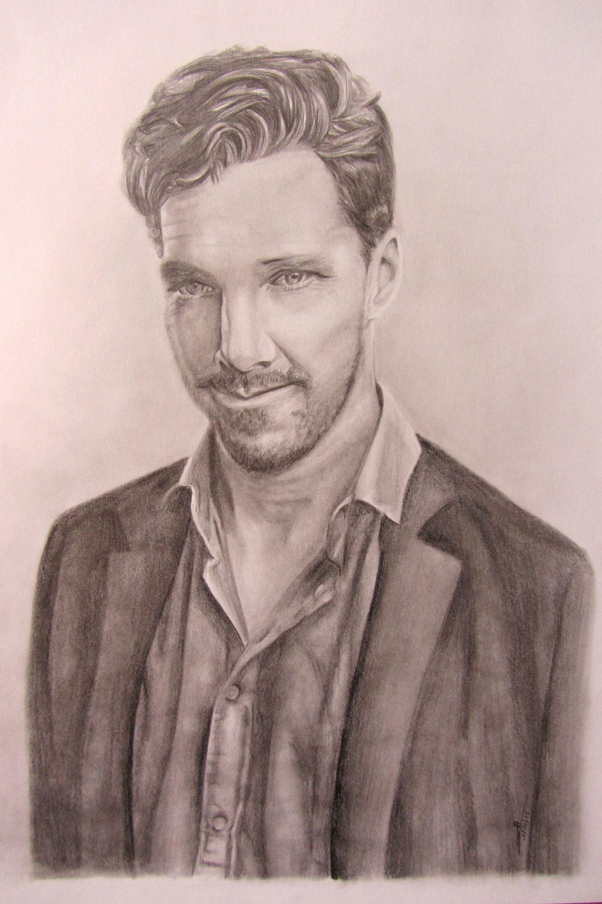 2015 - Commande - Benedict Cumberbatch - A3 - Crayon
