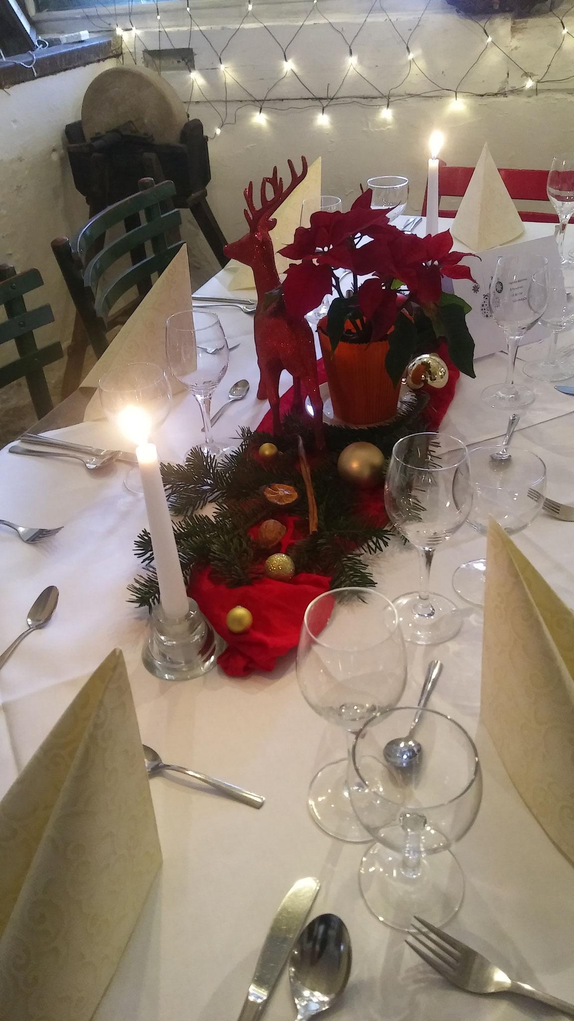 Weihnachtsessen im Hotel Alte Försterei Kloster Zinna