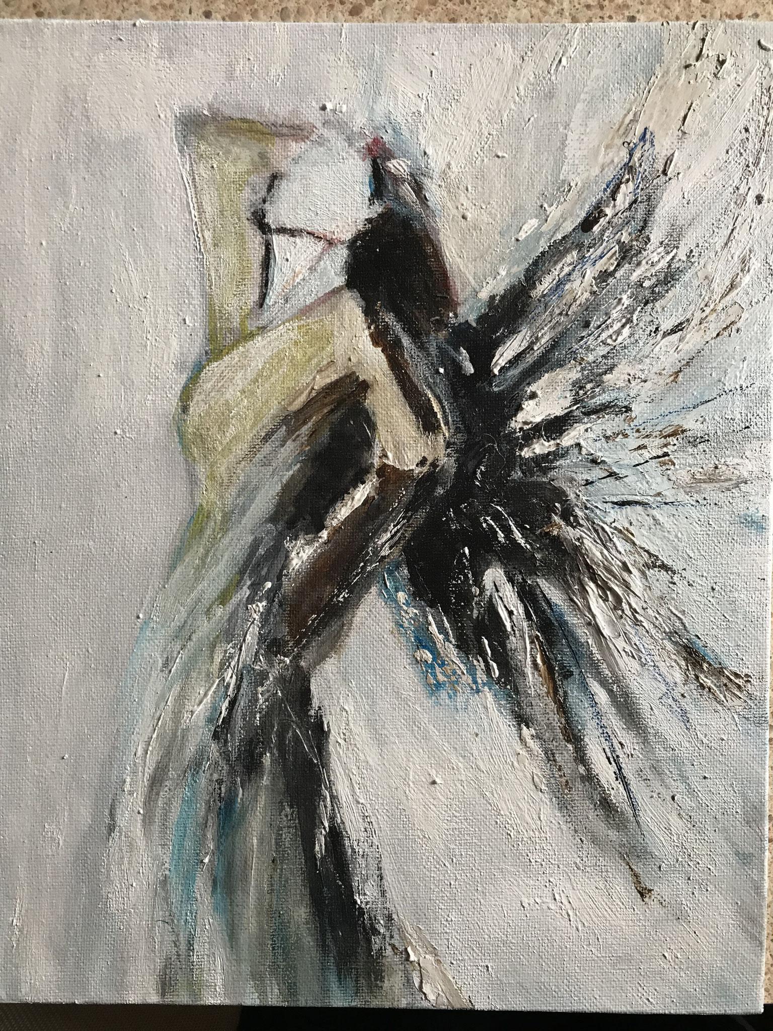 Engel abstrakt  (nach Vorlage aus dem Internet)
