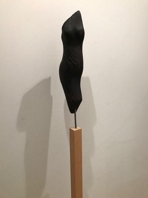 Torso / Esche gebrannt und gebürstet / 54 cm x 15 cm, © Susanne Musfeldt-Gohm, 2012