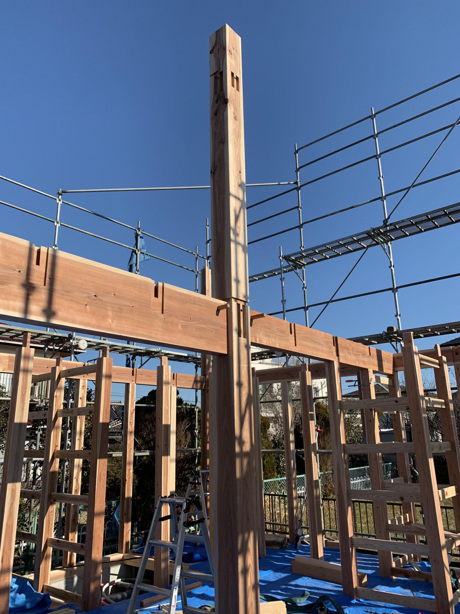 一宮サーファーの住まい 手刻みの家 外壁 焼杉 設計補助 設計施工ちばの木建築舎