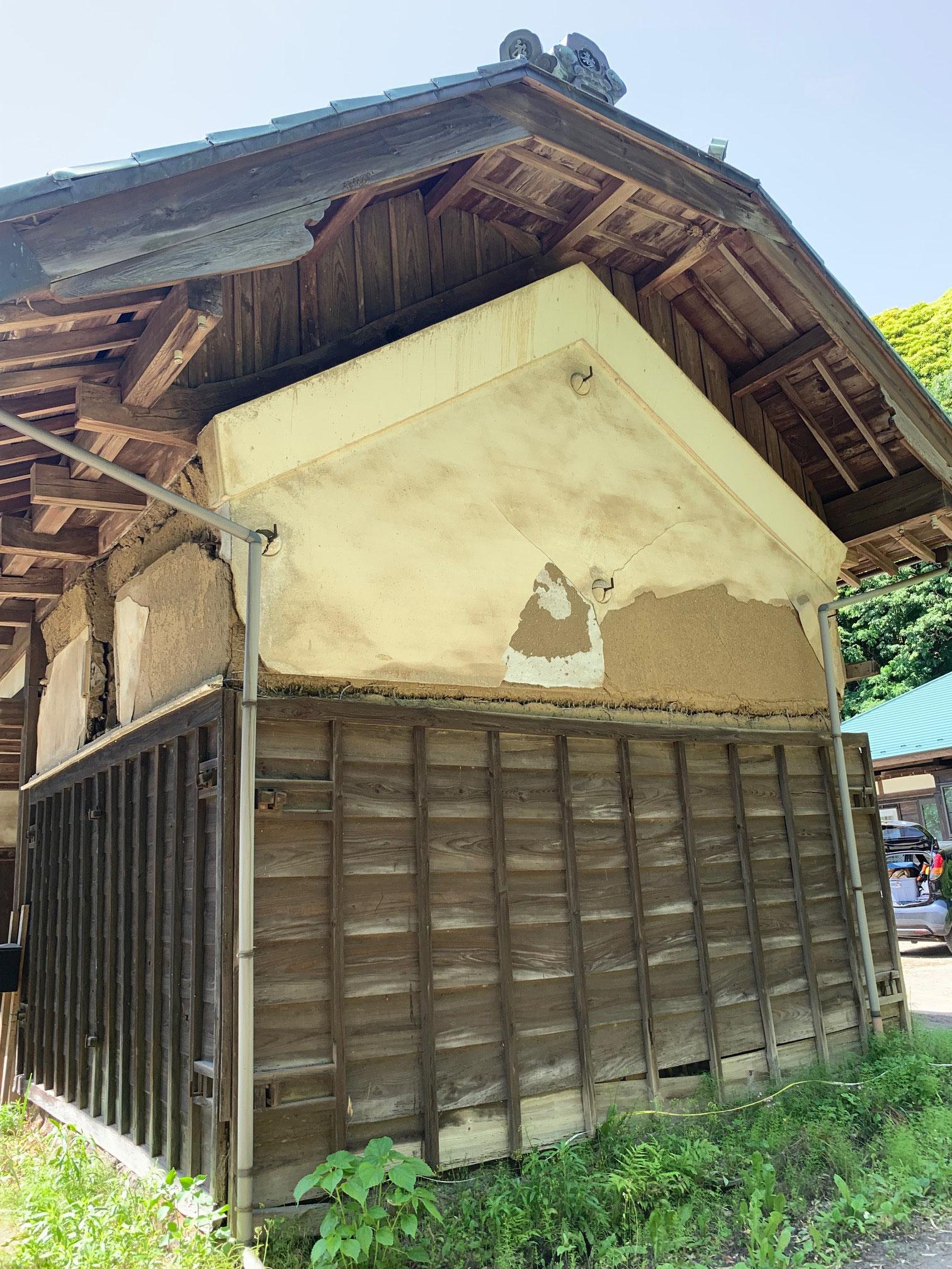 富津市本郷 古民家再生 長屋門の蔵を再生する