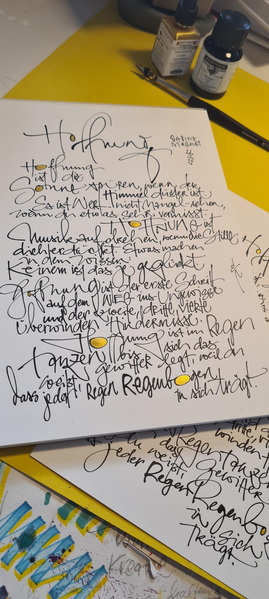 CalligraphyInterpretation Poetry Sabine Magnet