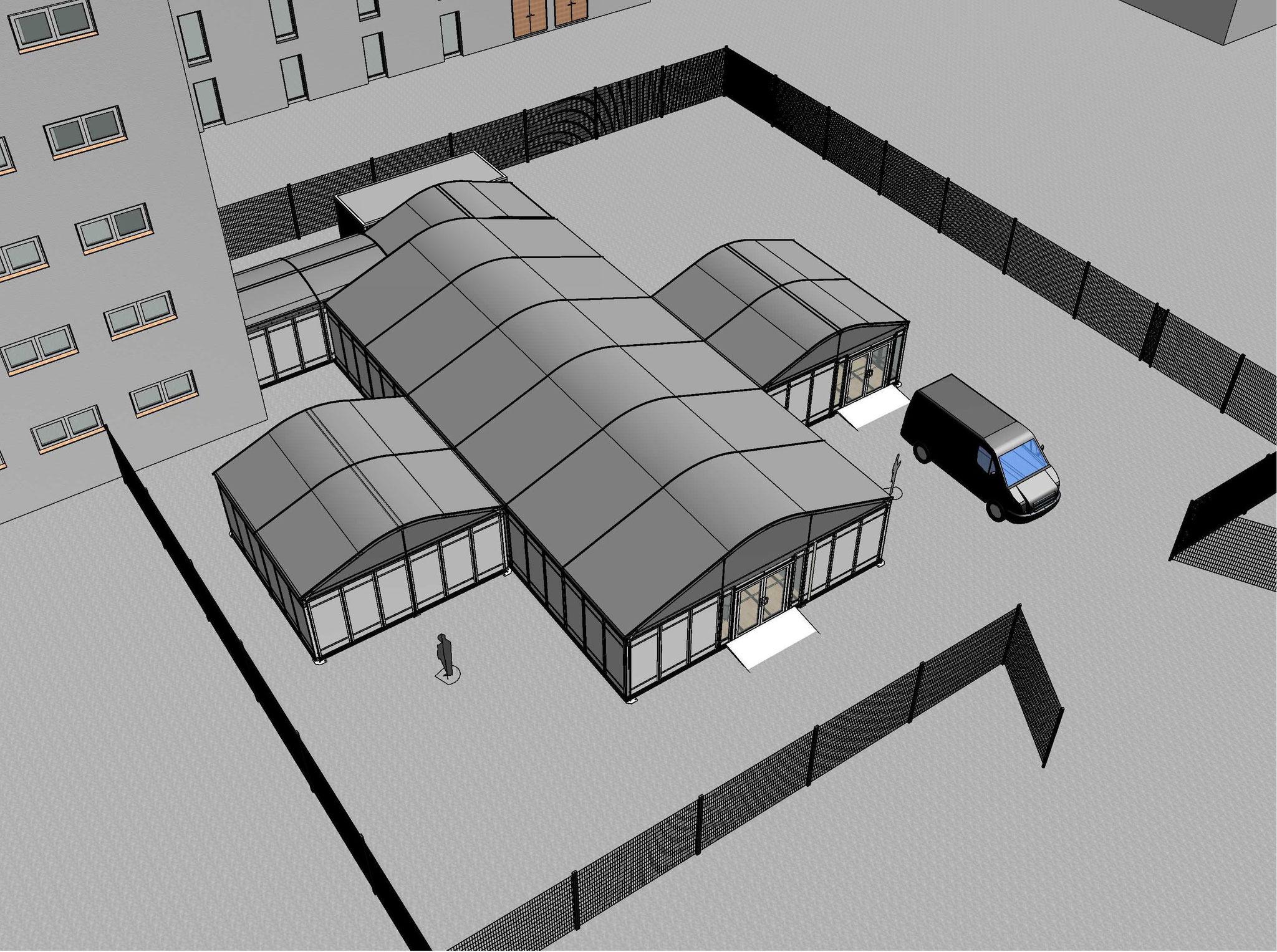 Triage Zelt für Krankenhäuser
