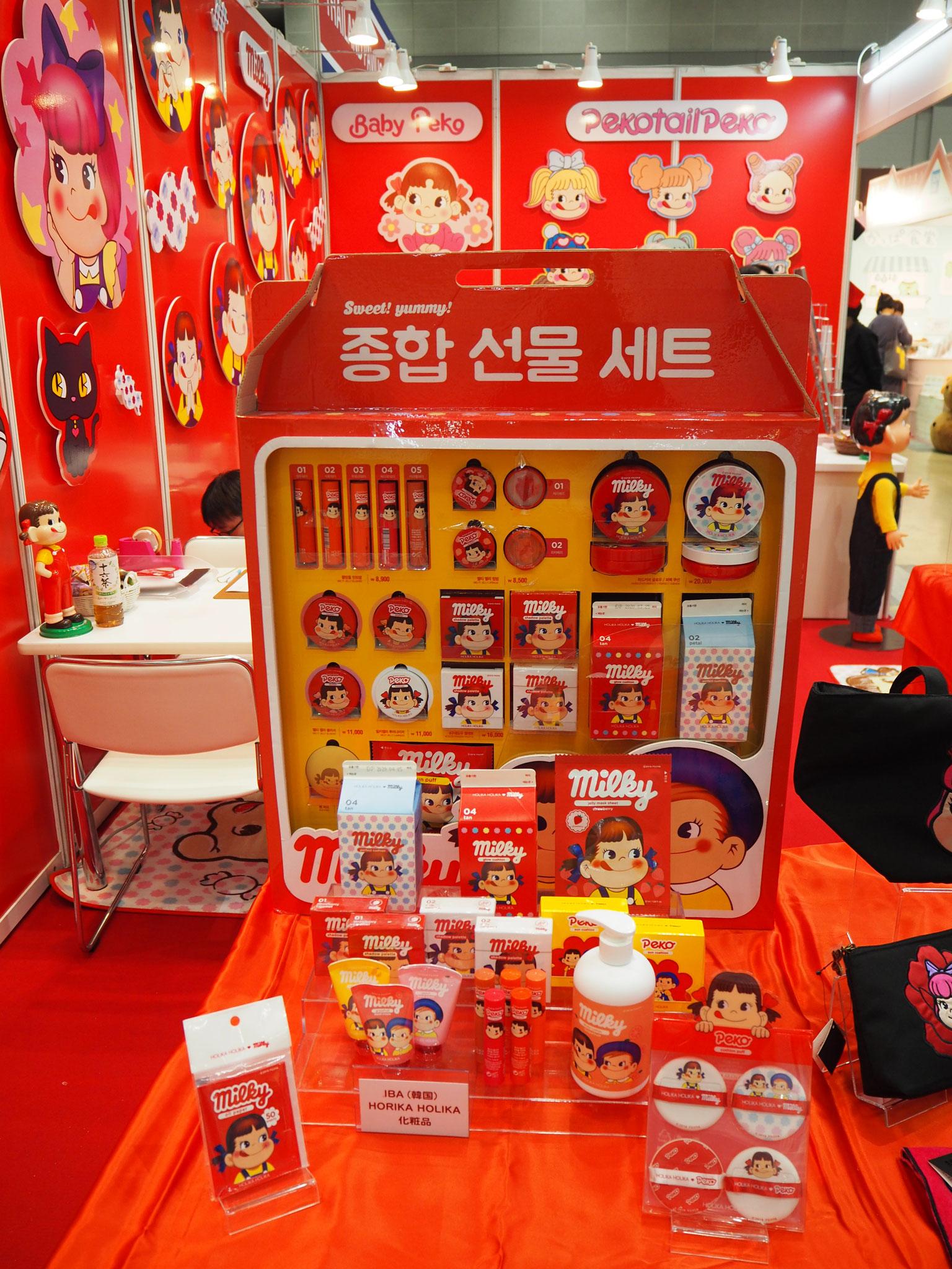 韓国で人気のペコちゃんの化粧品