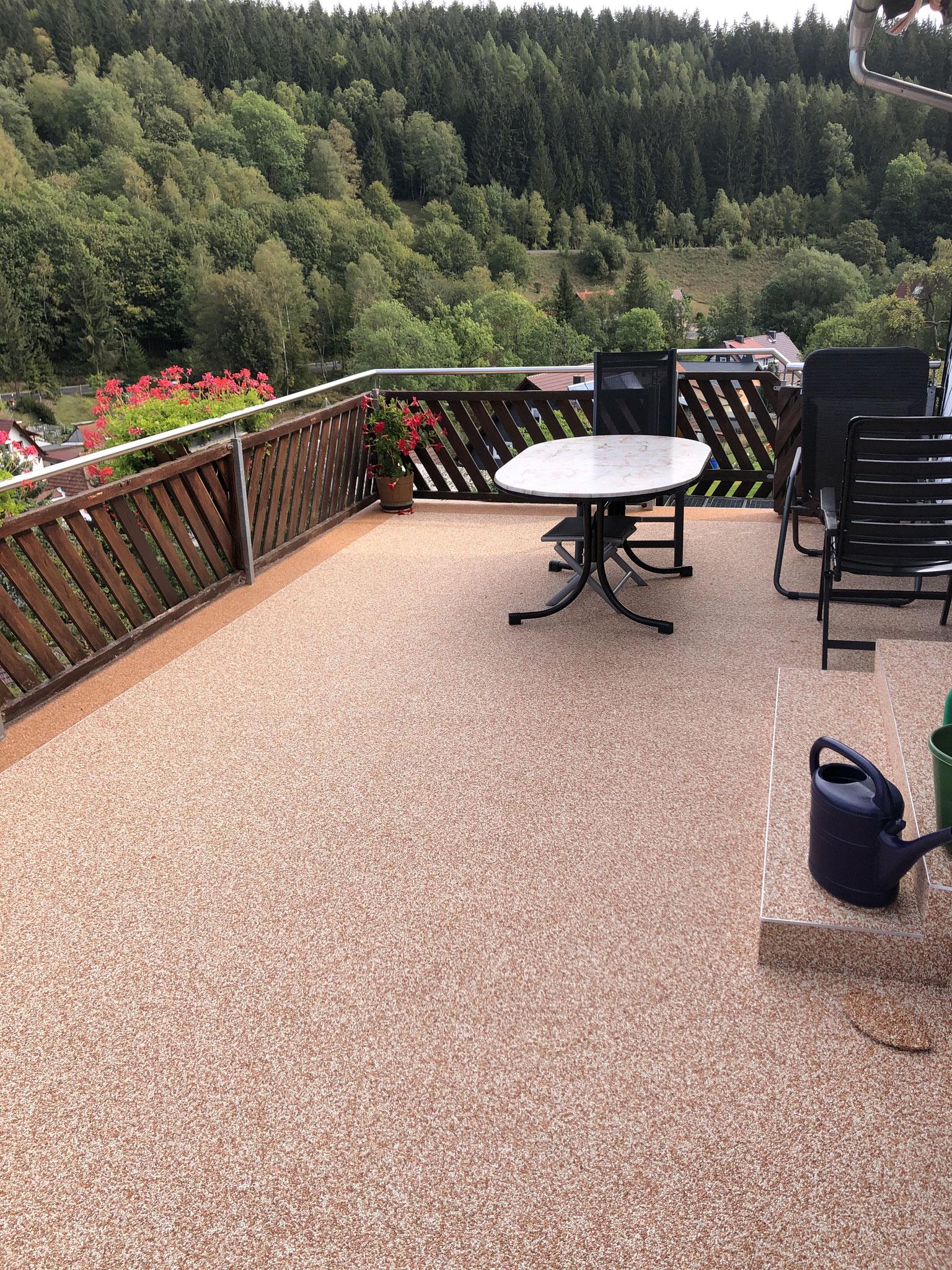 Steinteppich im Thüringer Wald bei Suhl