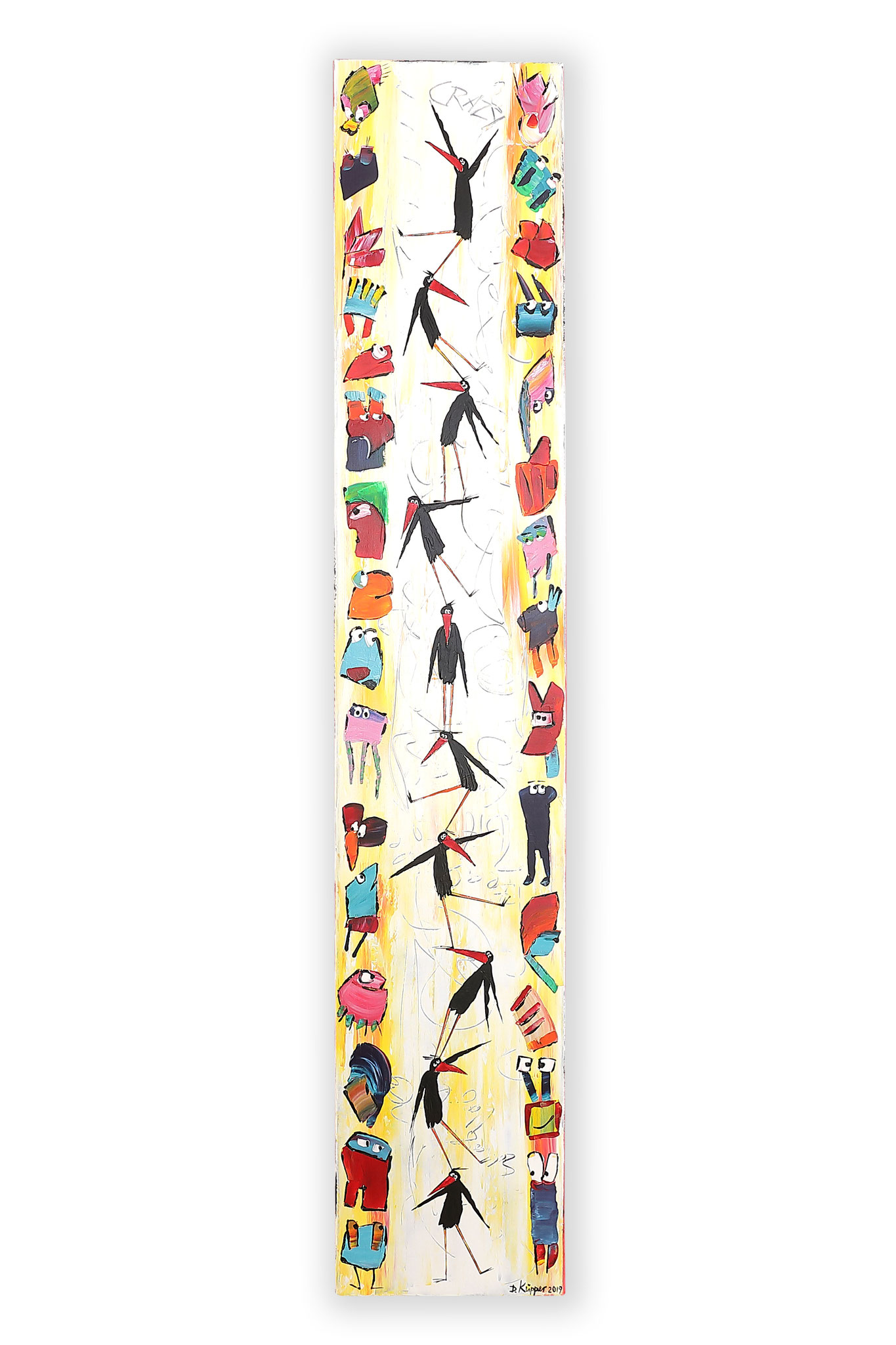 Schräge Vögel - 30x160cm - 290 Euro