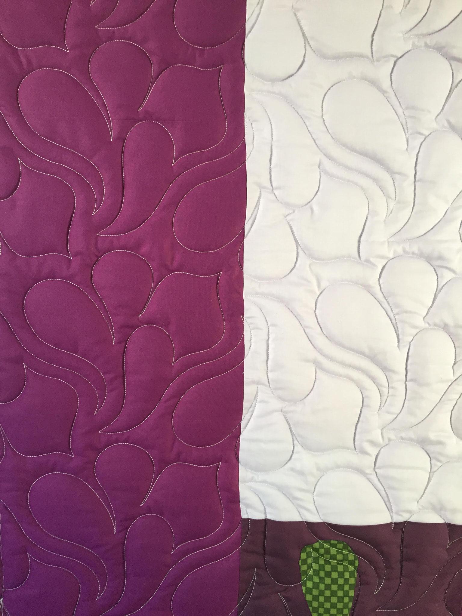 Une belle texture se dessine car le molleton est bien épais - atelier www.lequiltemoi.com