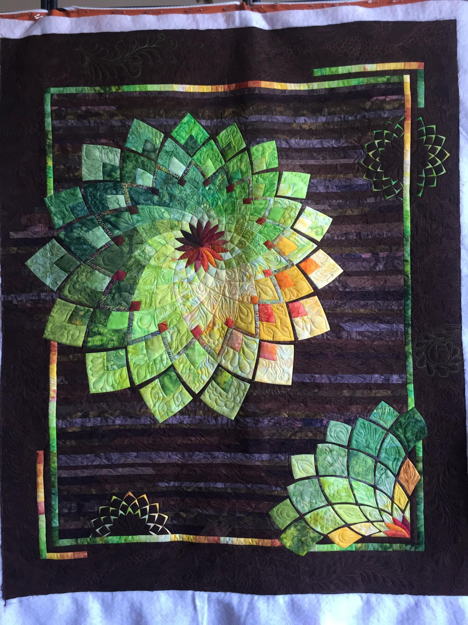 Le quilt dans son ensemble, quilté à l'atelier LE QUILT émoi.