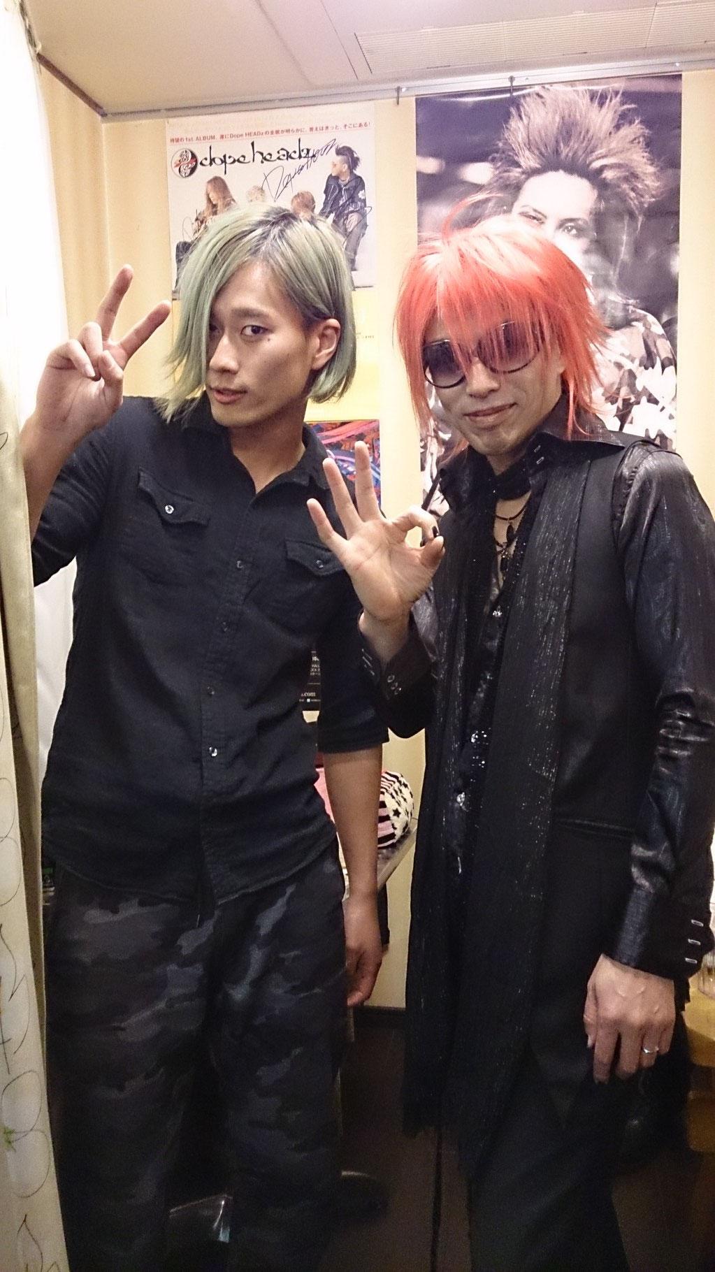 PercussionのToshiさんと記念写真(^-^)