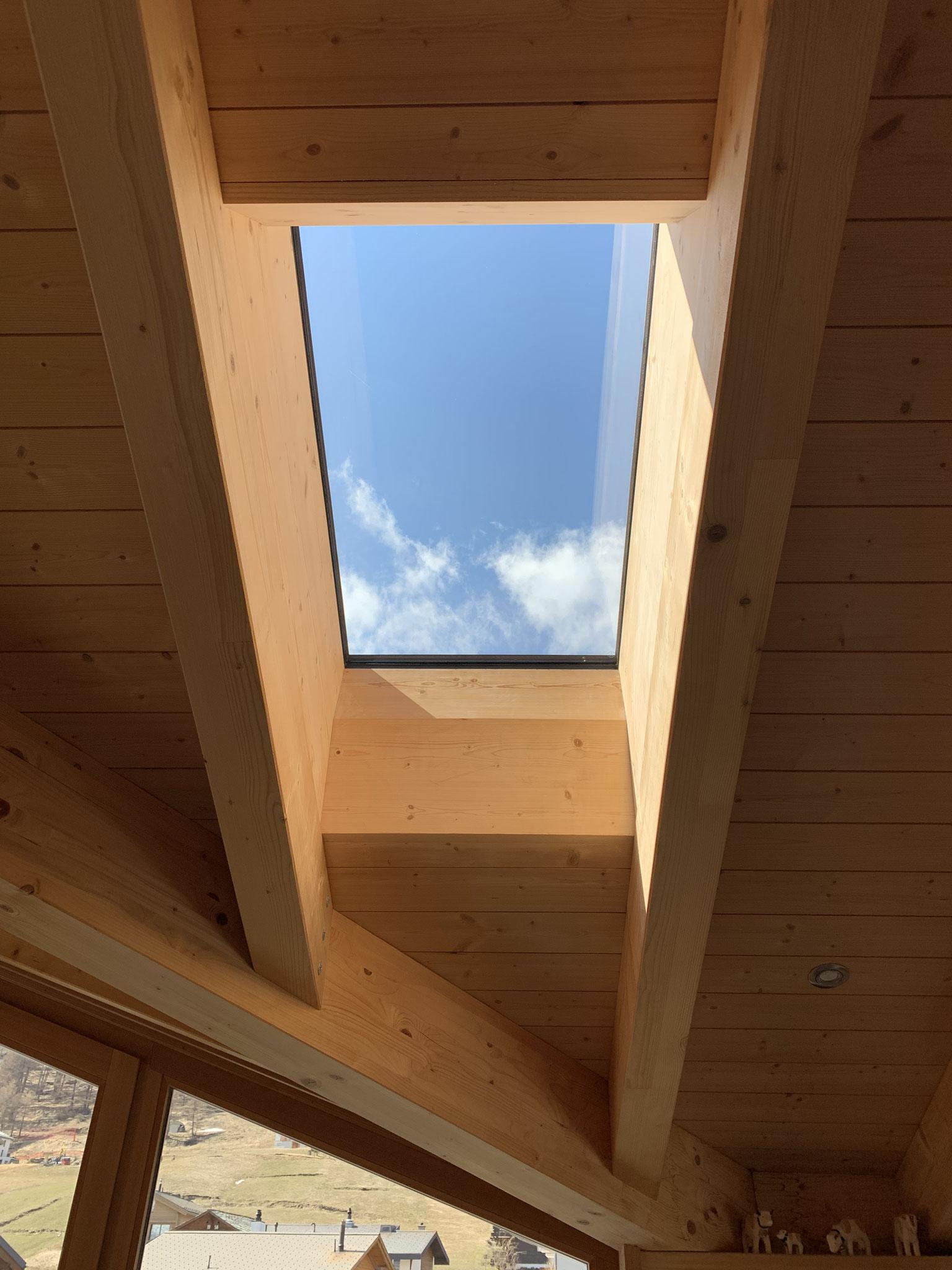 Dachfenster ohne Plissee ...