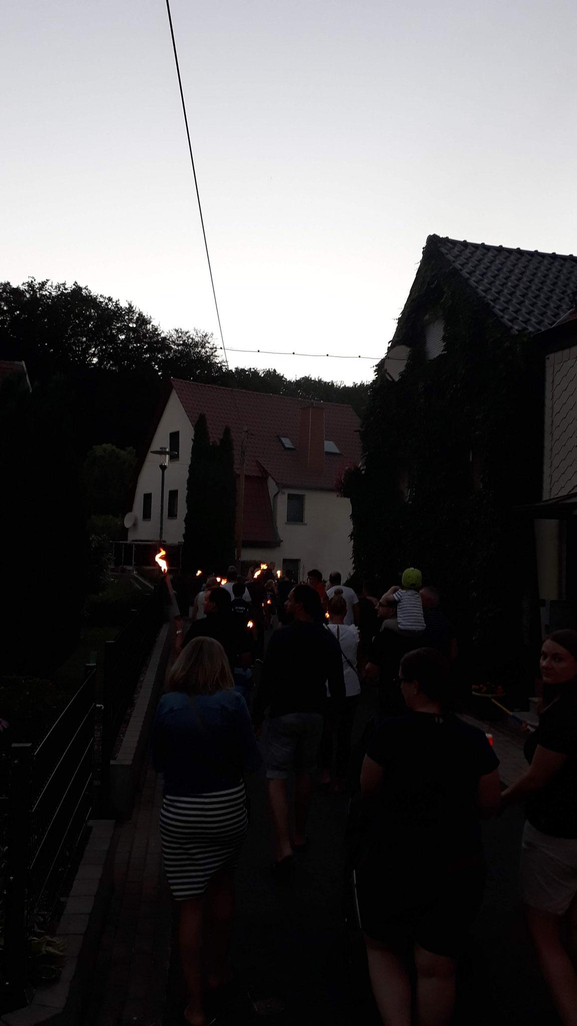 29.06.2019 Feuerwehrfest - Fackelzug