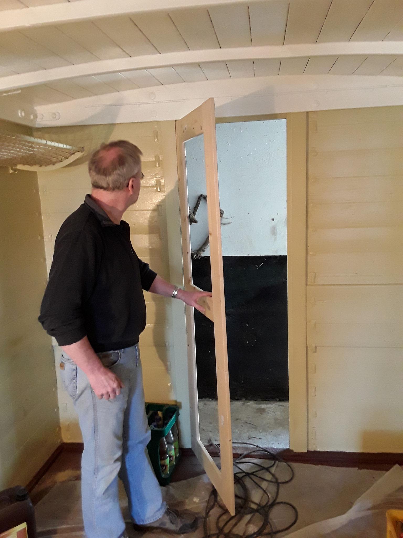 Ja un an haben wir noch eine Tür gebaut