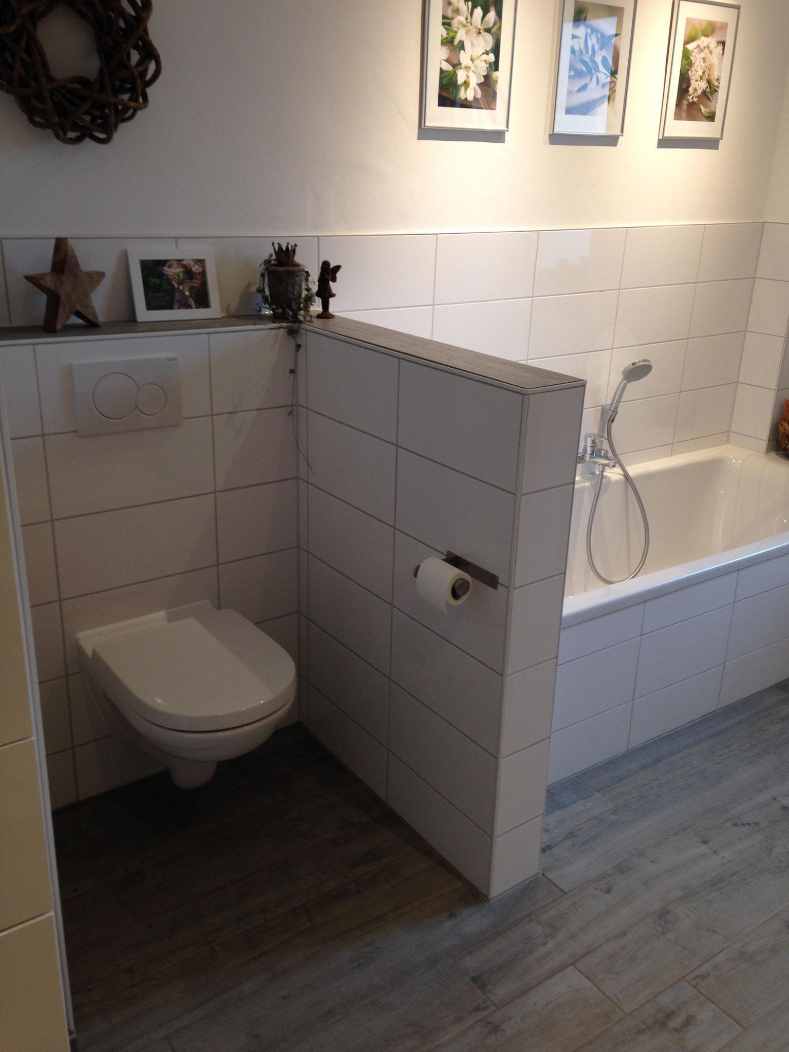 Badewanne und WC