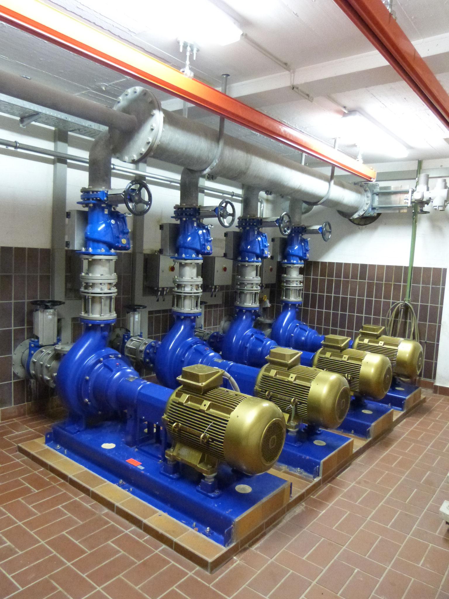 Abwasserpumpwerk mit IE4-Synchron-Reluktanz-Motoren