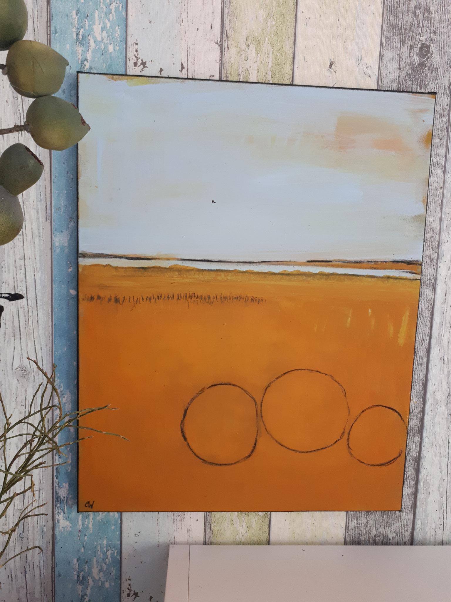 Strohballen gemalt