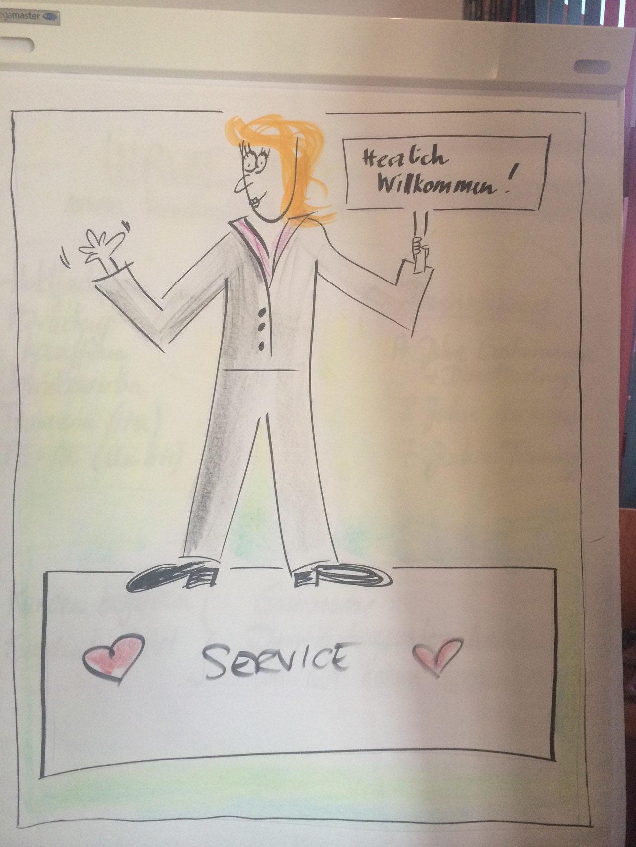 Zur Begrüßung (Ulrike Neid, www.kundenliebling.de)