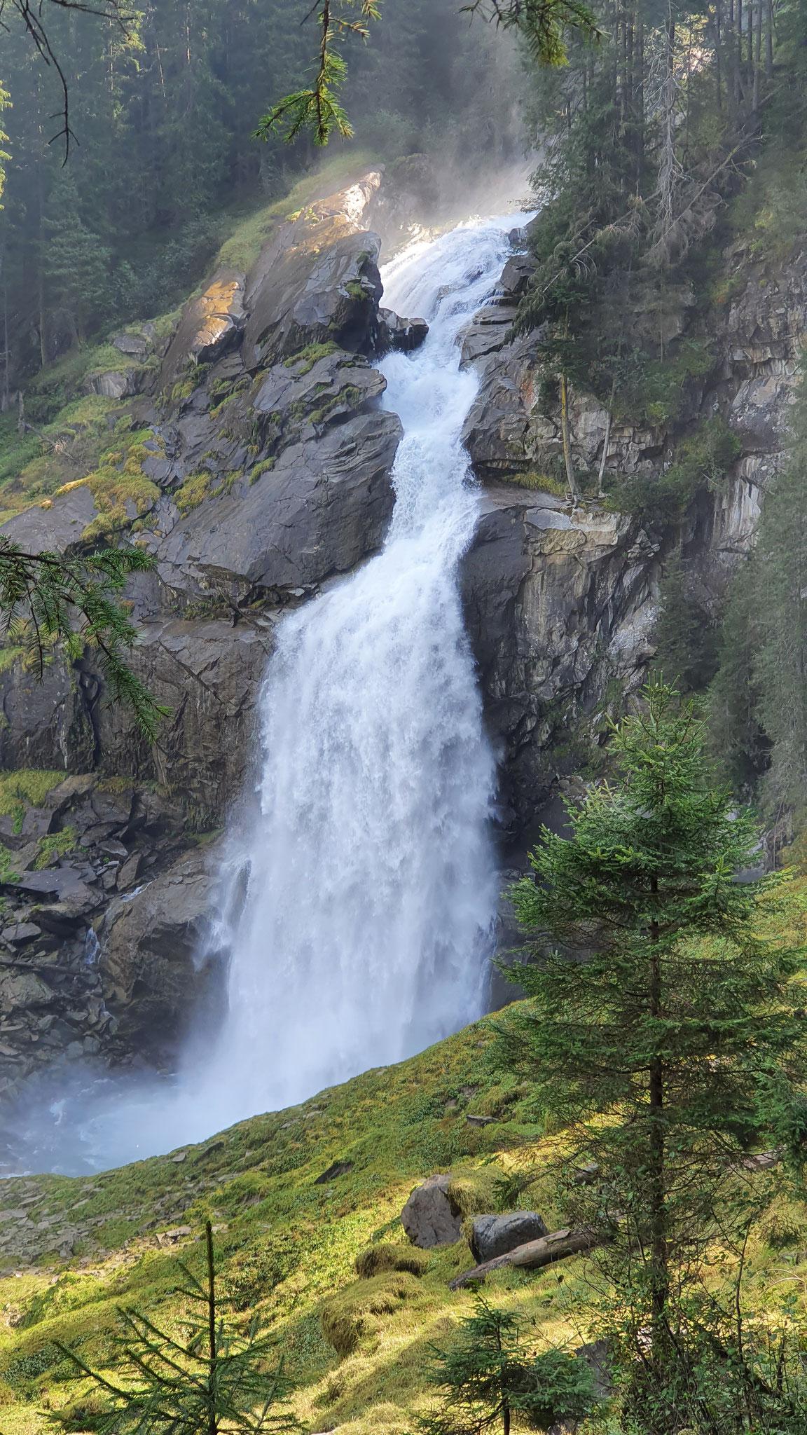 Wasserfälle von unten