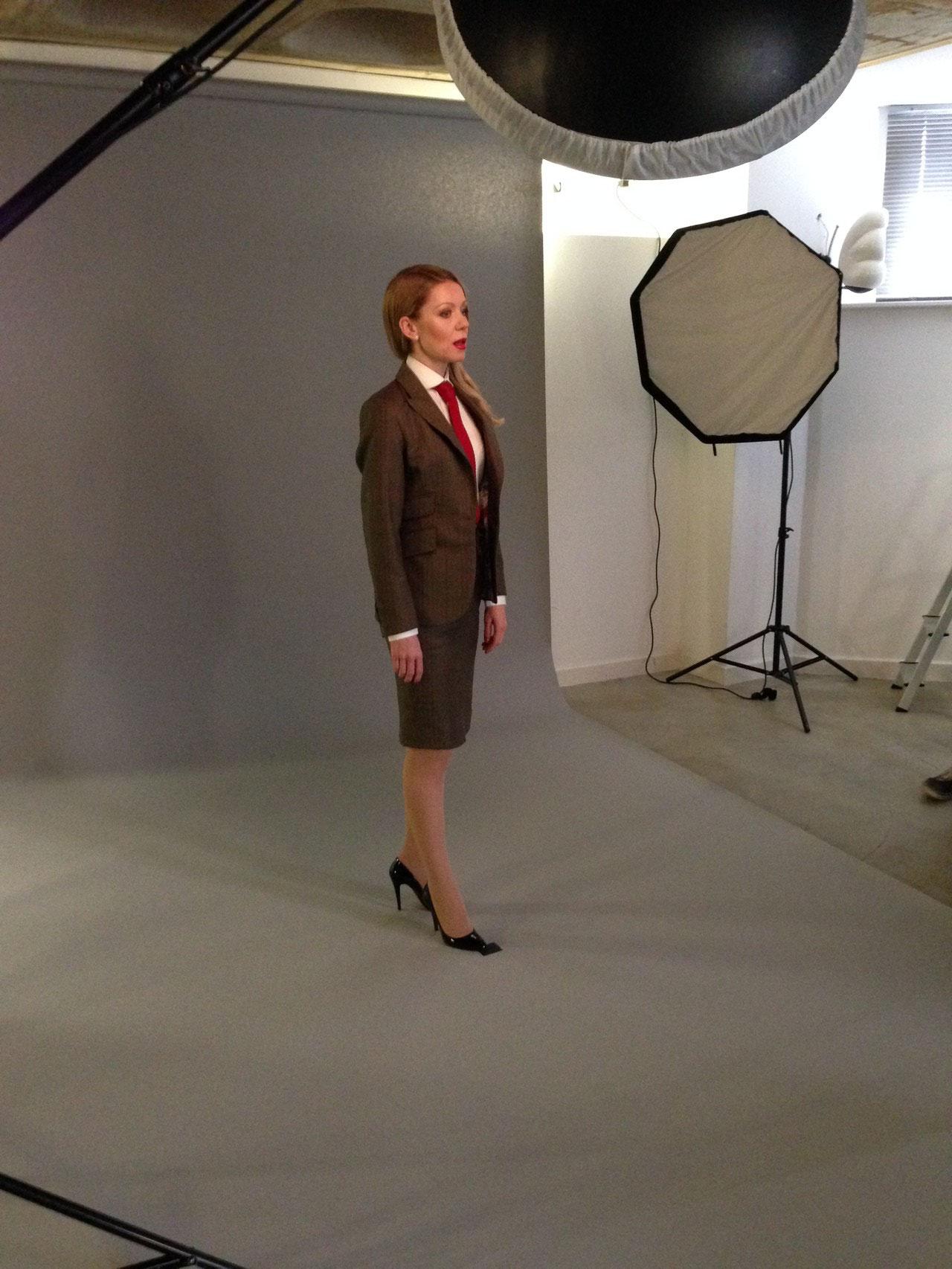 Kathrine Anne Lee behind the scene