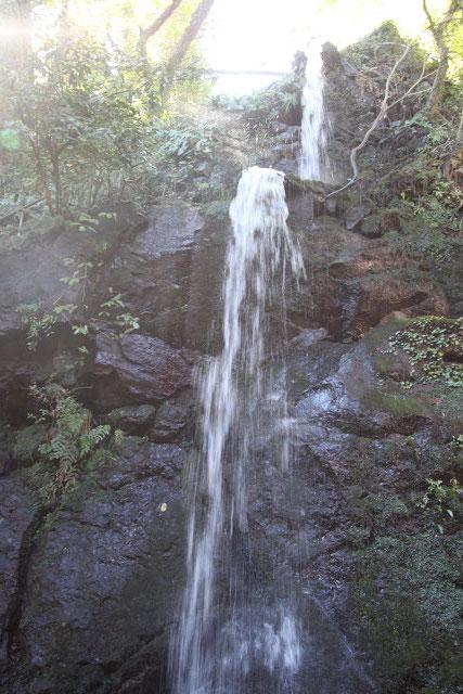 小さな川ですが立派な滝です
