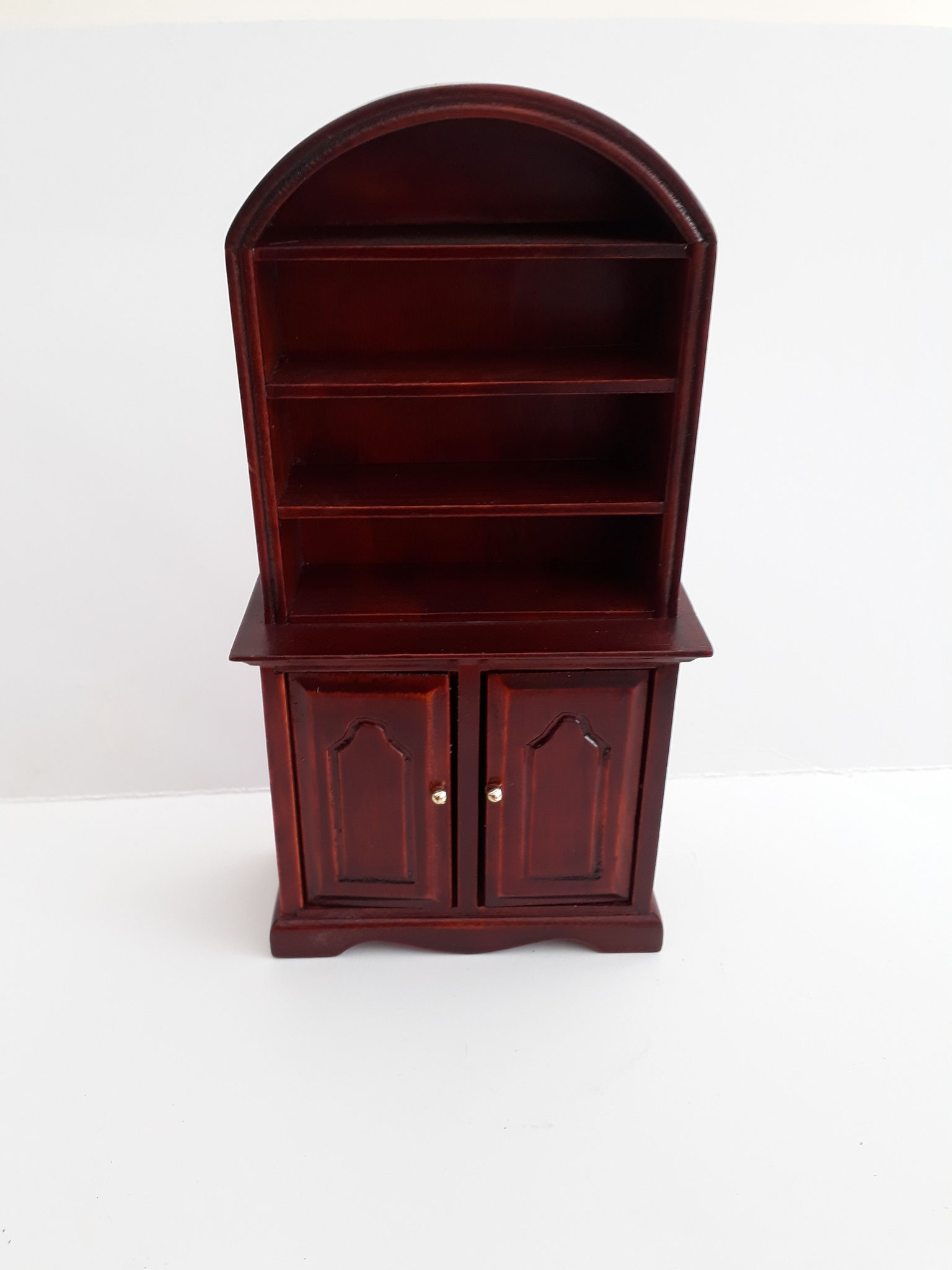 Arched Mahogany Display Unit
