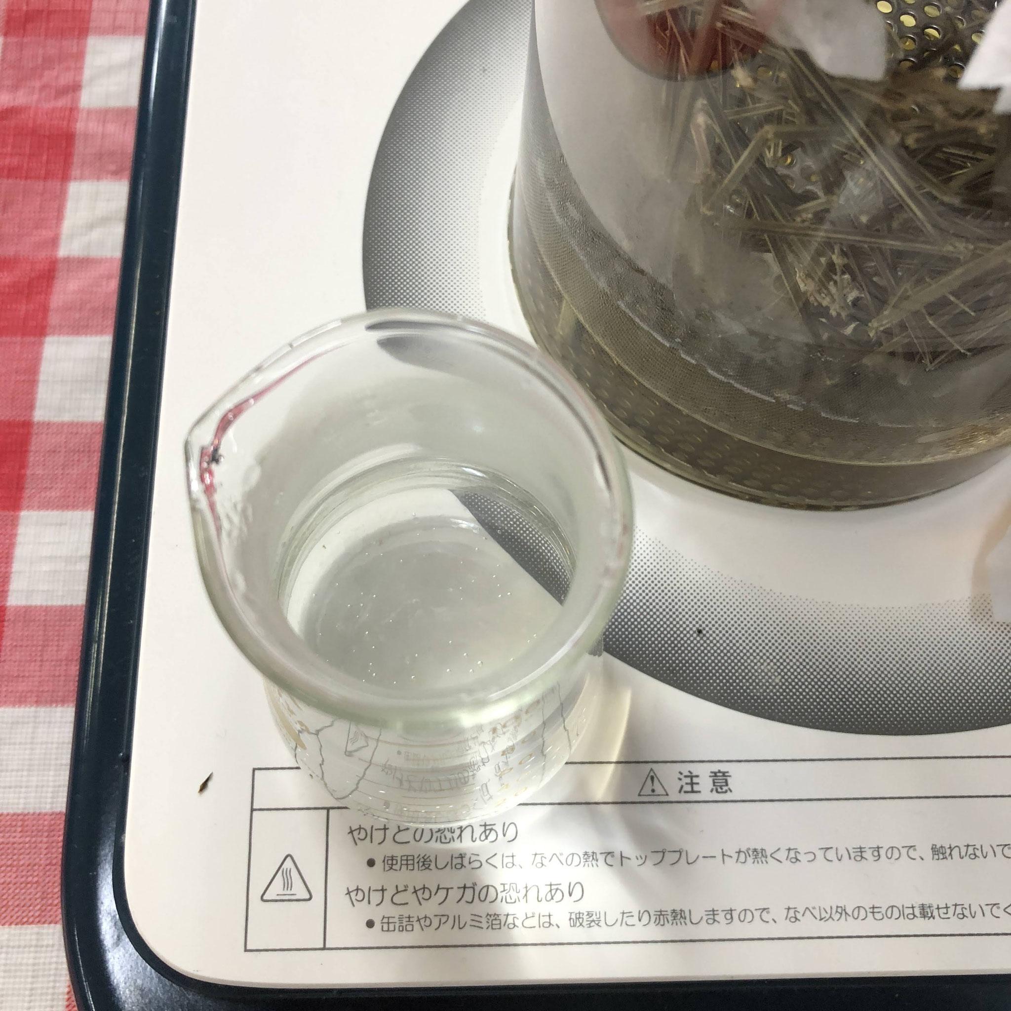 リカロマminiでラベンダー芳香蒸留水+疎水性成分が少々採れました。