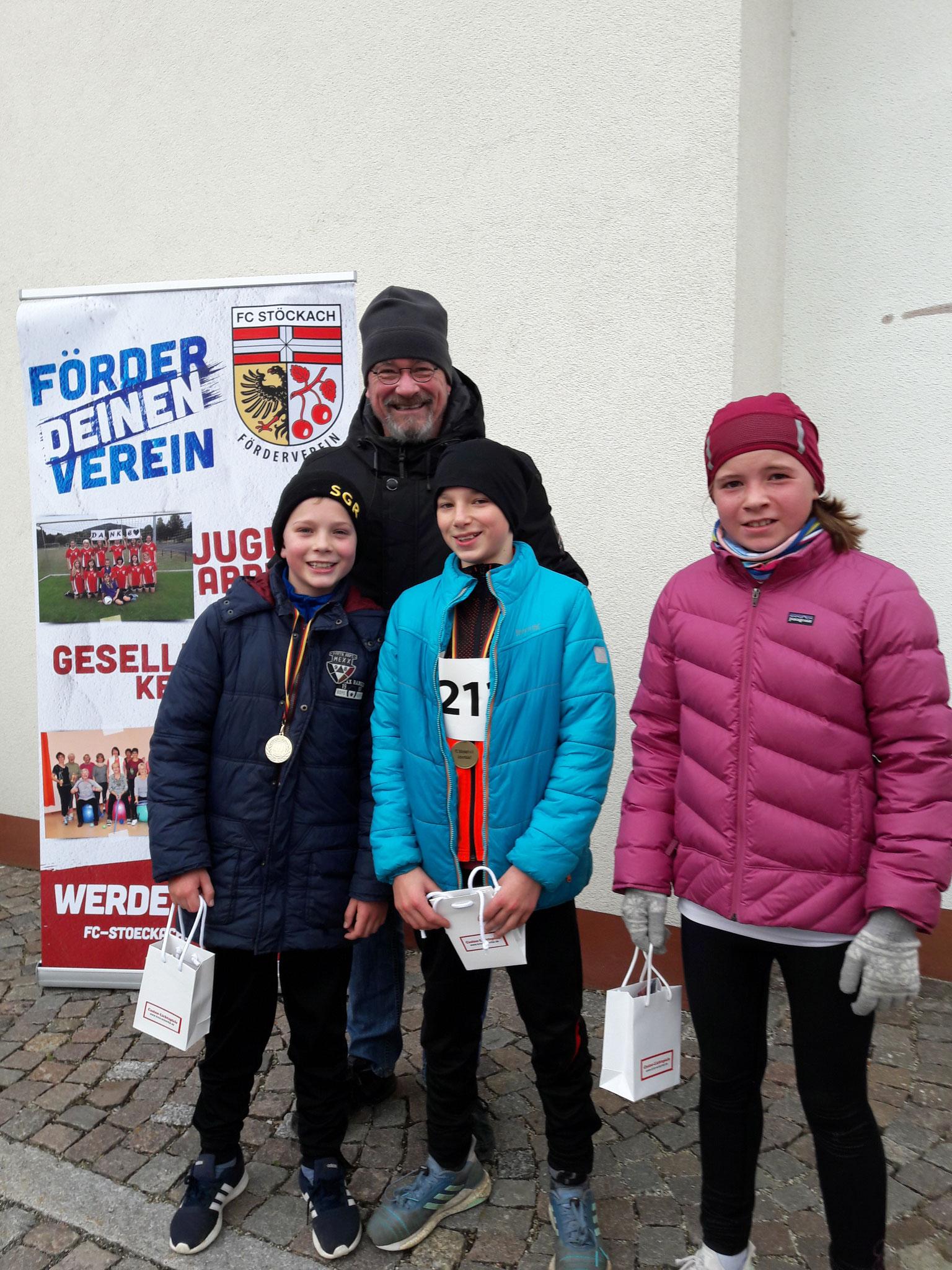 Siegerehrung - Planetenlauf 2,5 km Kinder