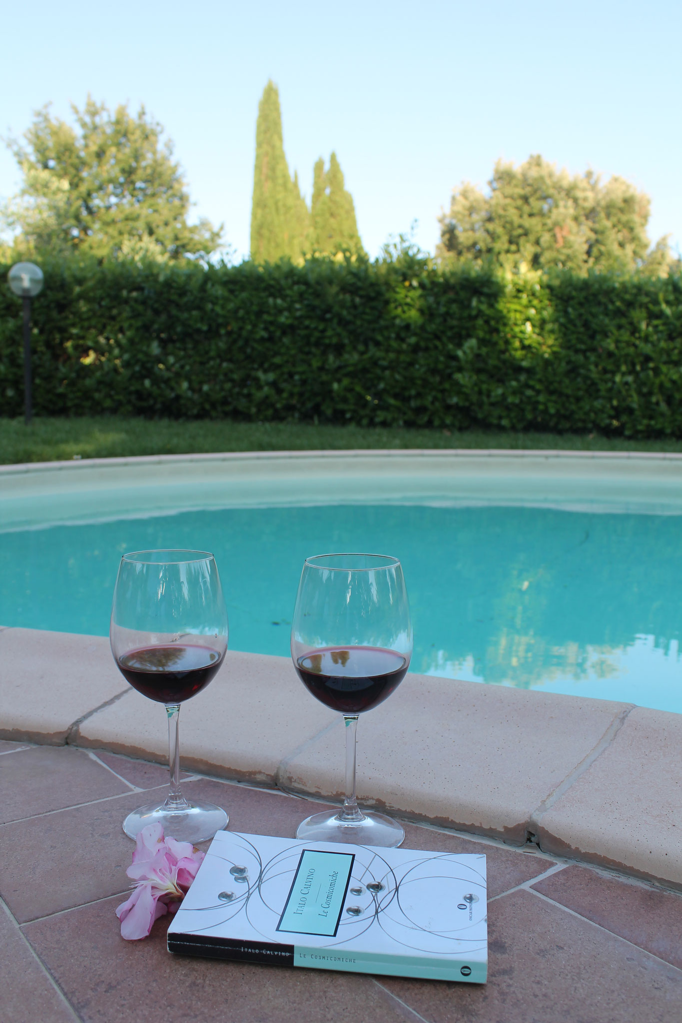 Relax and wine by the pool
