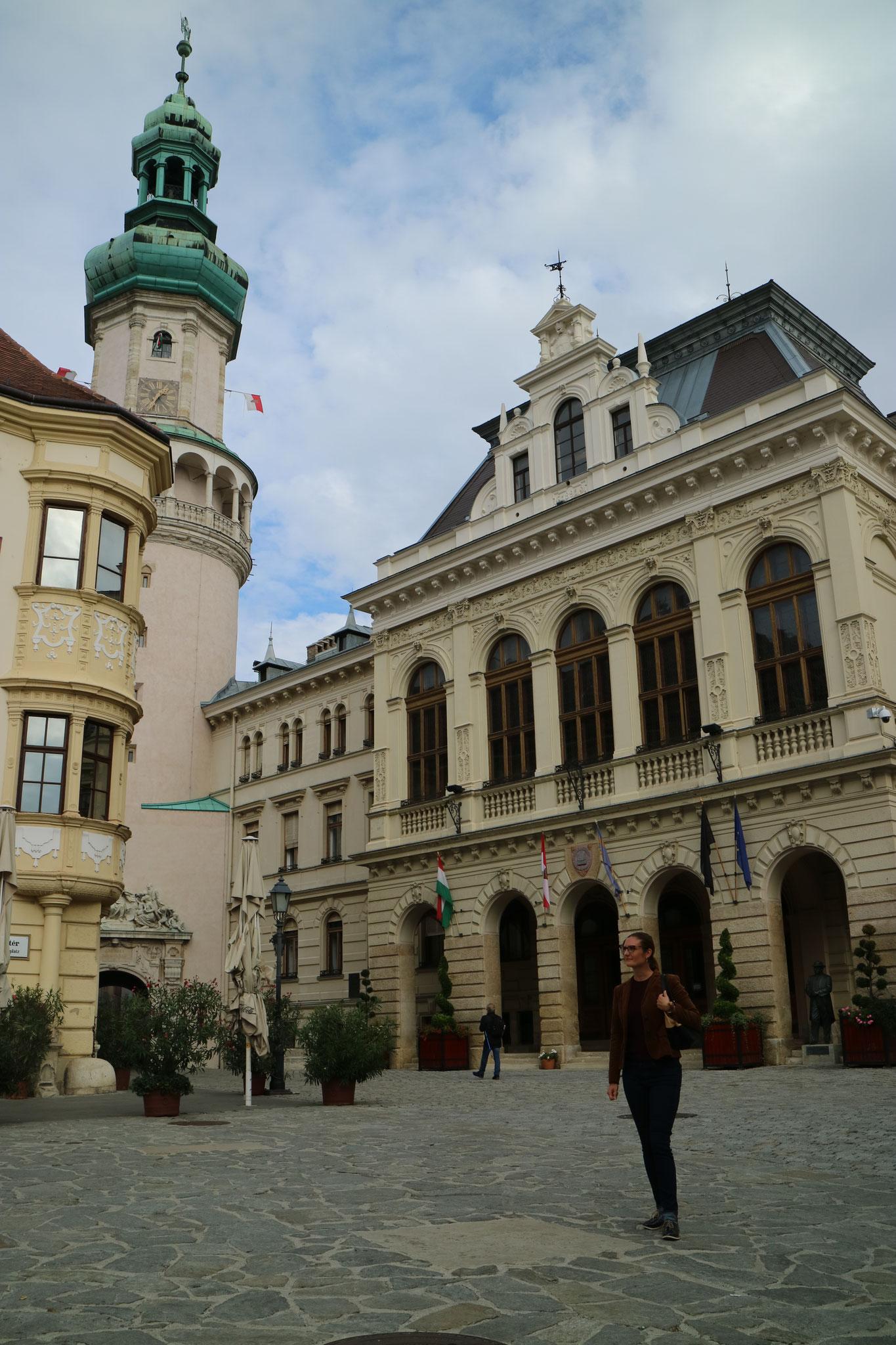 Der Marktplatz der Stadt Sopron