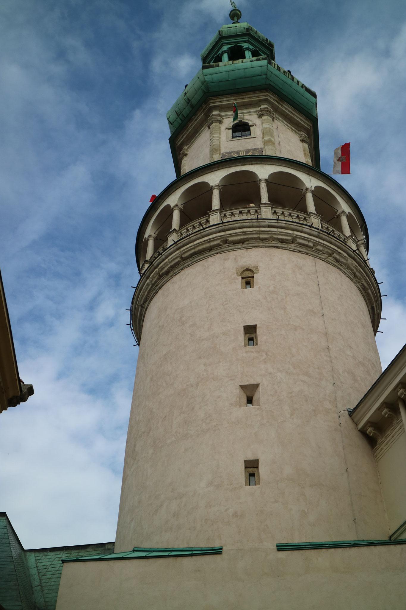 Der bekannte Feuerturm der Stadt Sopron mit einem guten Überblick