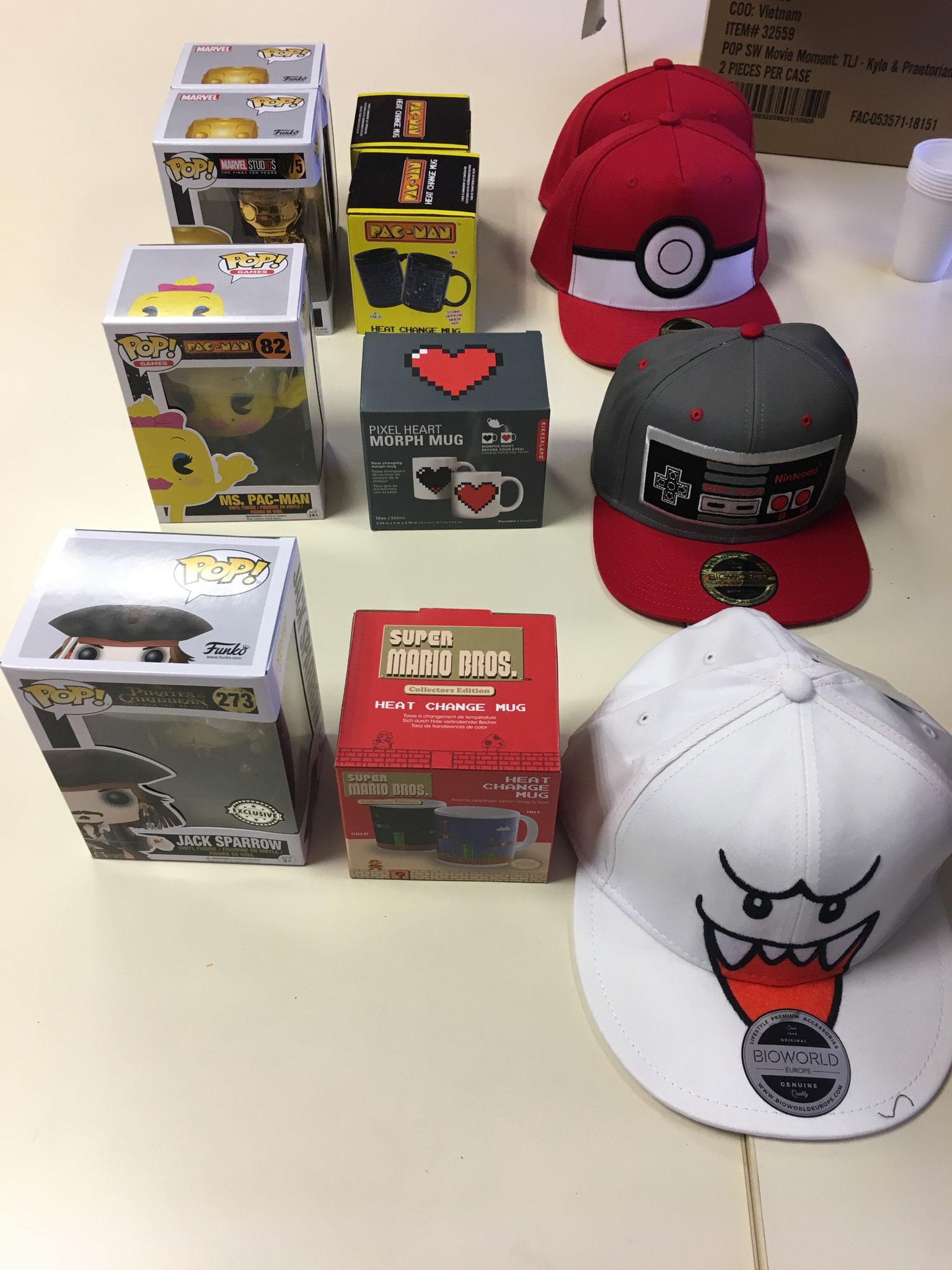 Les cadeaux pour les participants
