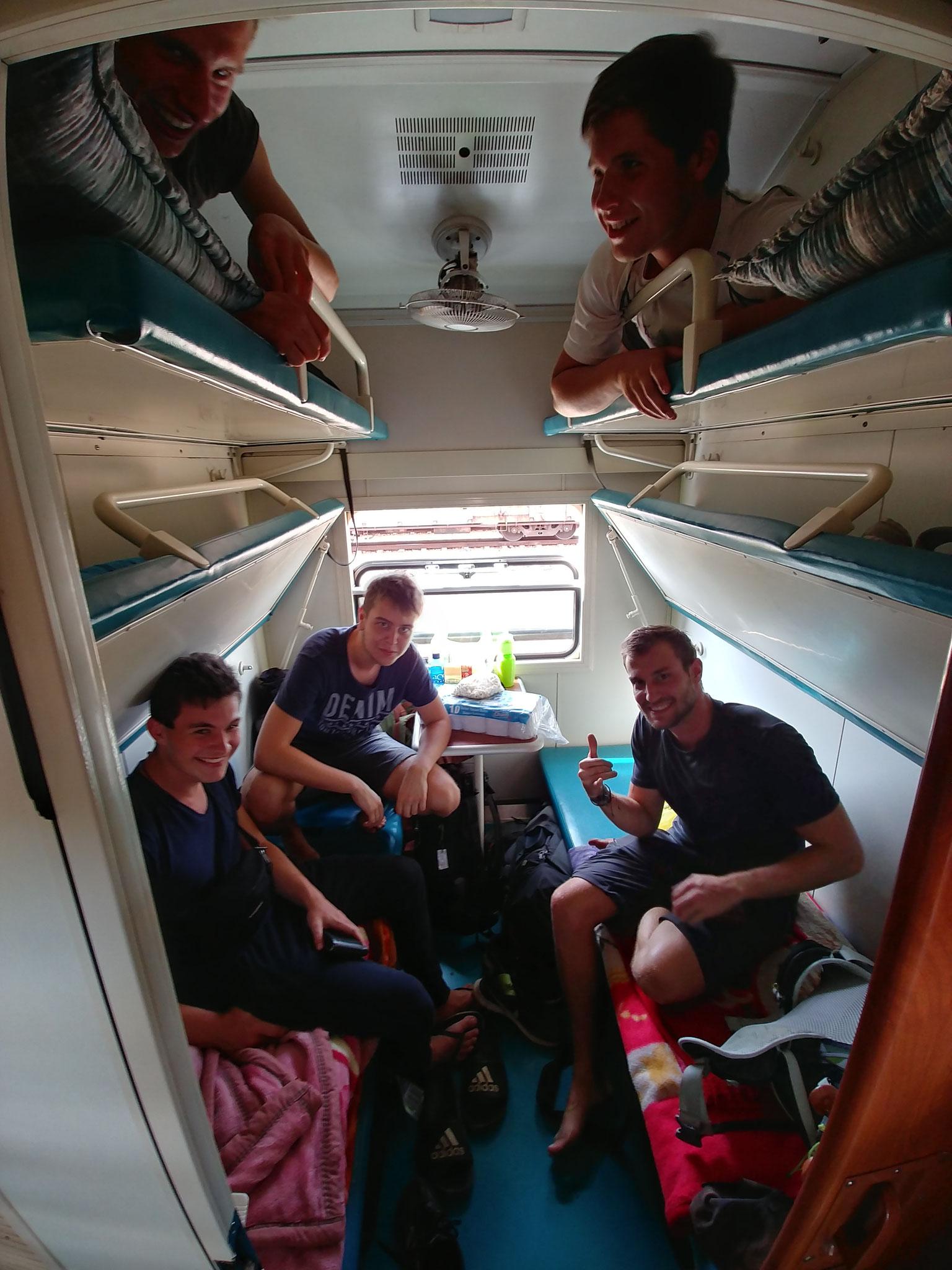 Unser Zimmer im Tazara-Train