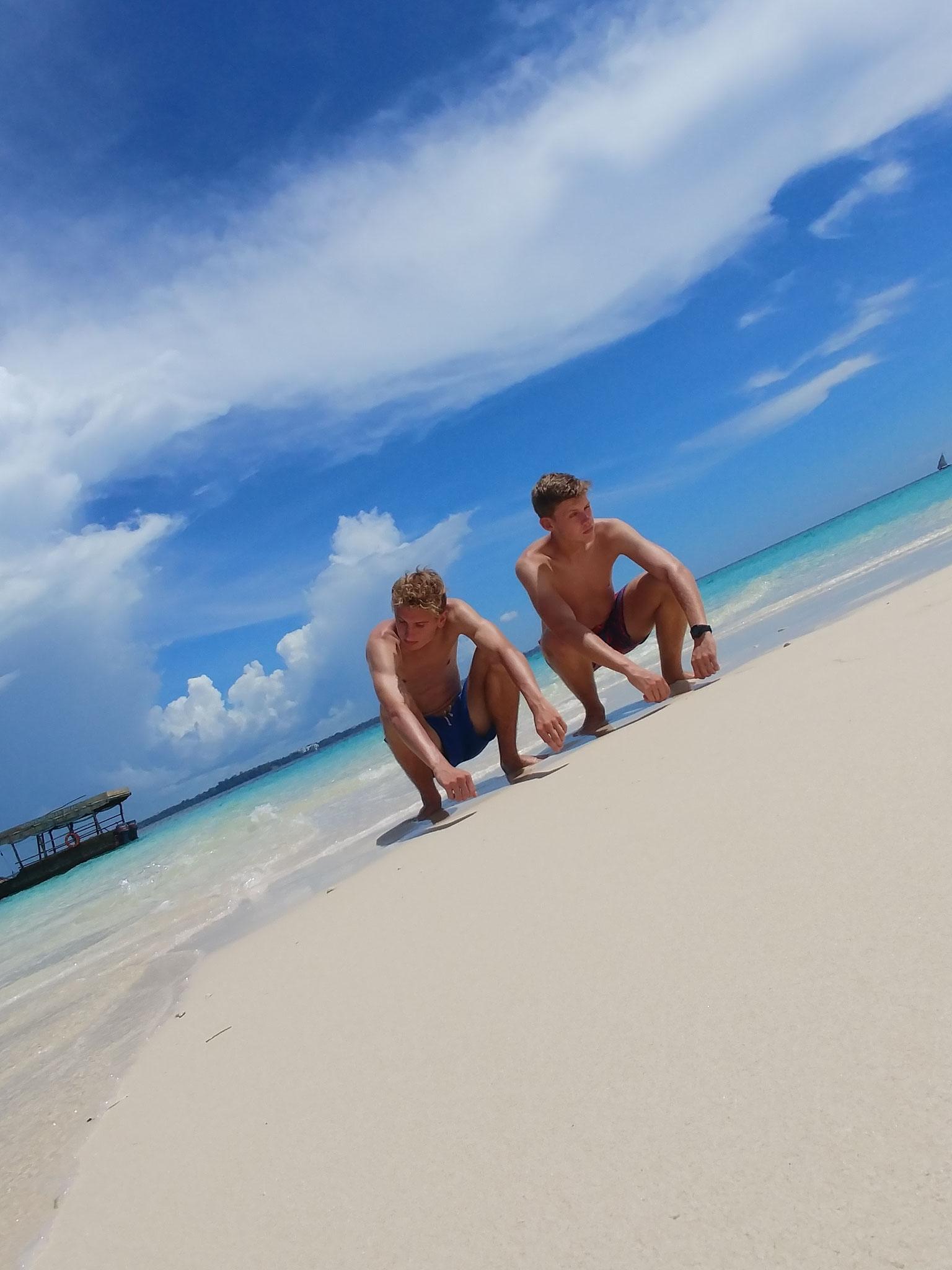 Fotosession auf der Sandbank