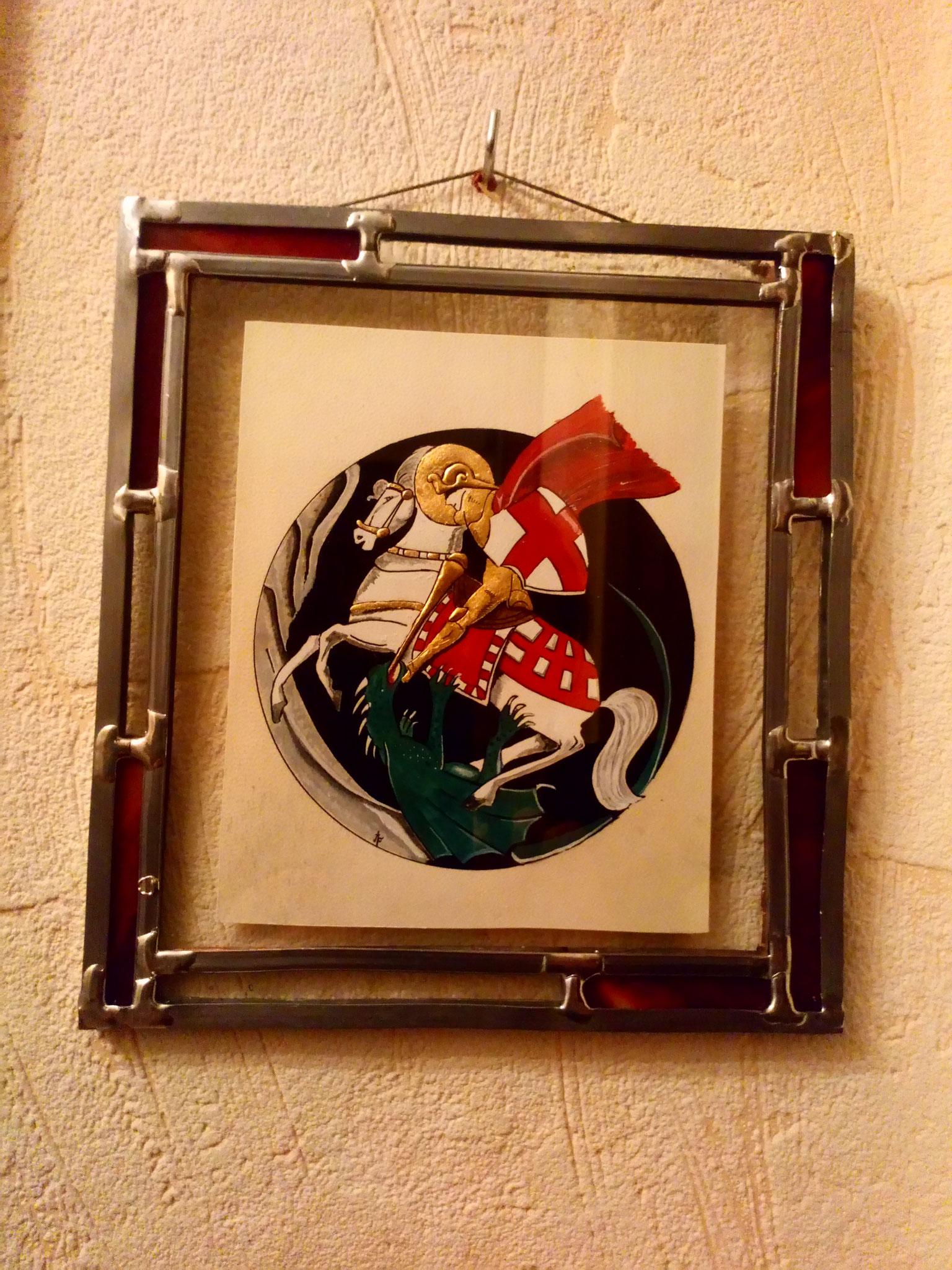 Saint Georges combattant le Dragon , revue catalane des années 20